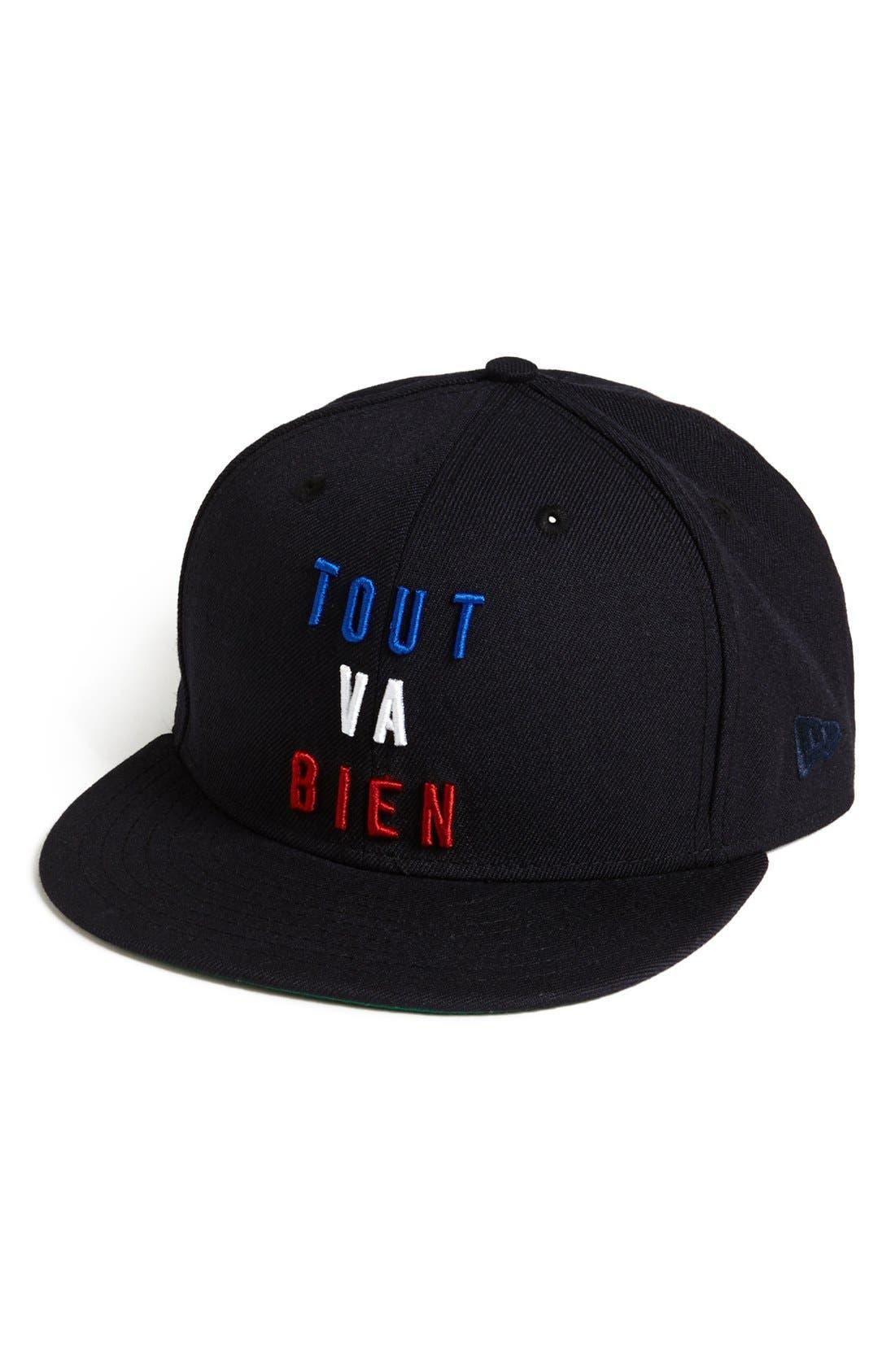 NEW ERA CAP, 'Tout Va Bien' Baseball Cap, Alternate thumbnail 3, color, 410