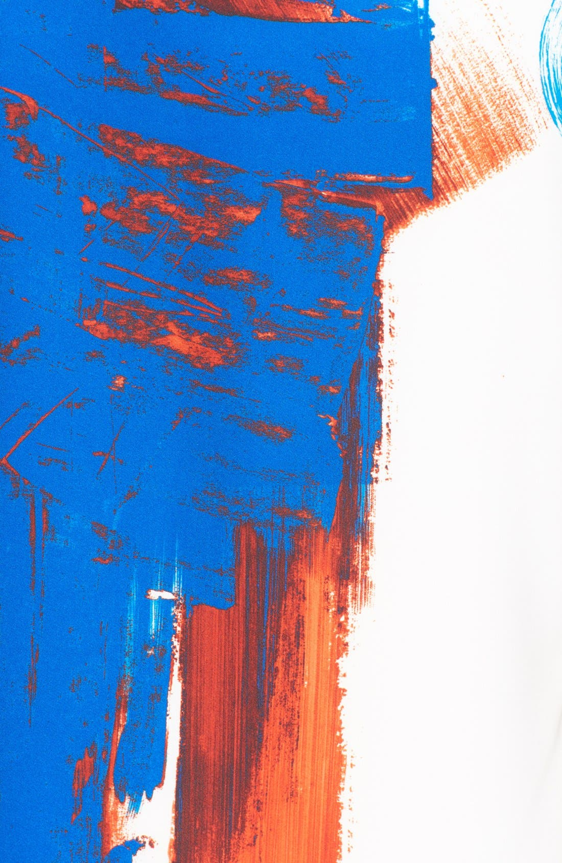 MILLY, Brushstroke Print Sleeveless Top, Alternate thumbnail 3, color, 005