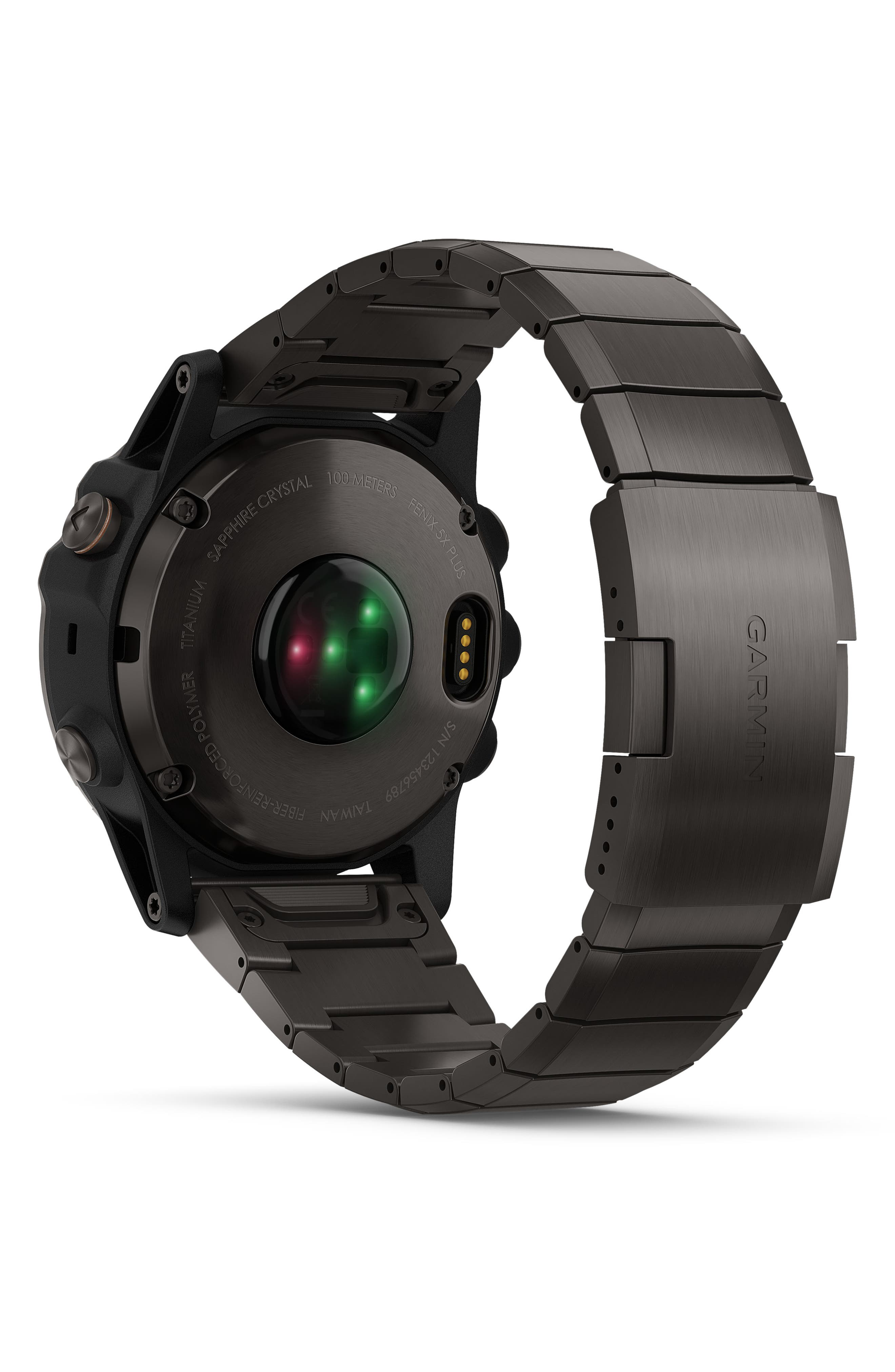 GARMIN, fenix<sup>®</sup> 5X Plus Sapphire Premium Multisport GPS Watch, 51mm, Alternate thumbnail 2, color, CARBON GRAY