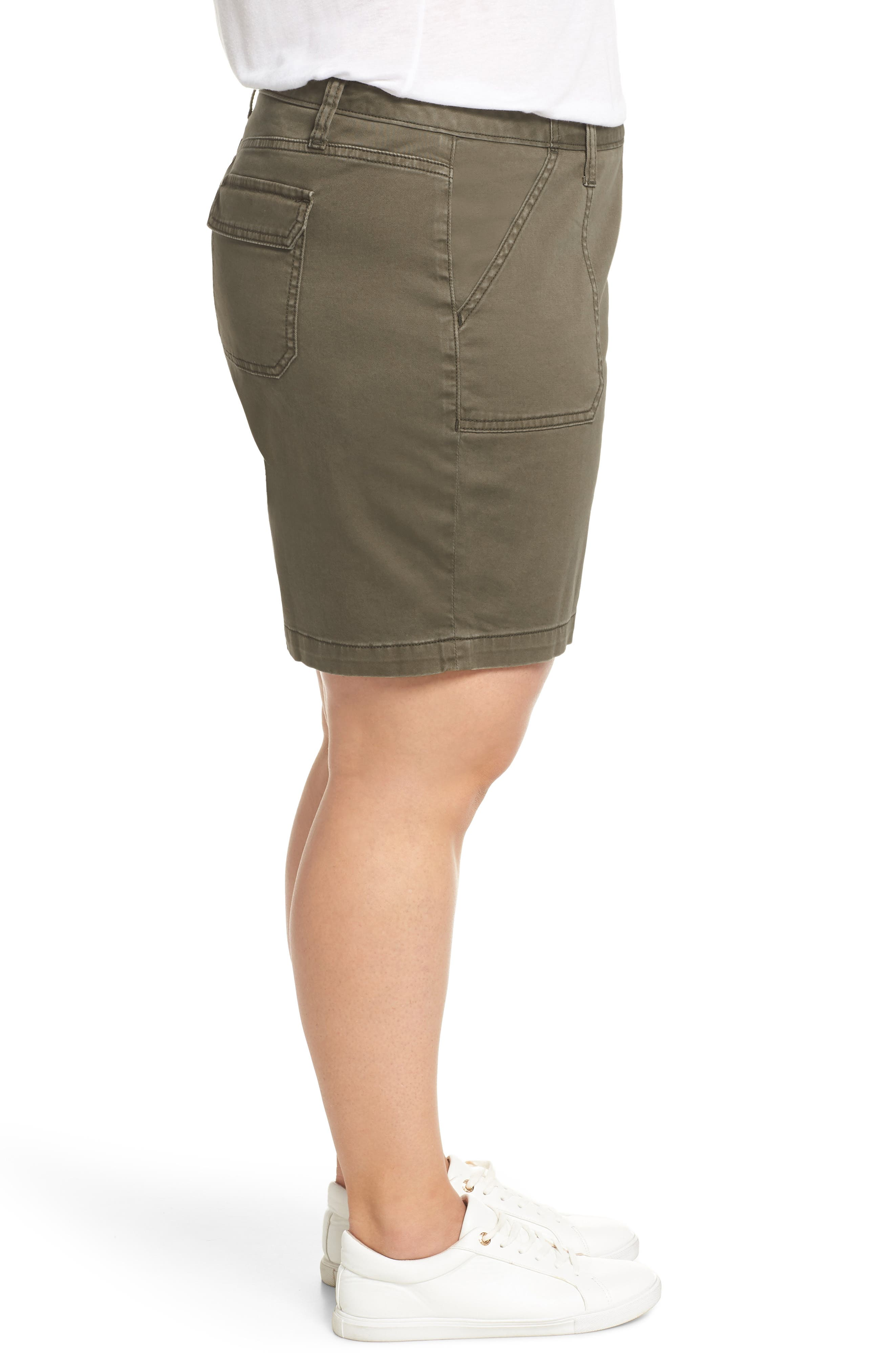 CASLON<SUP>®</SUP>, Utility Shorts, Alternate thumbnail 3, color, OLIVE SARMA