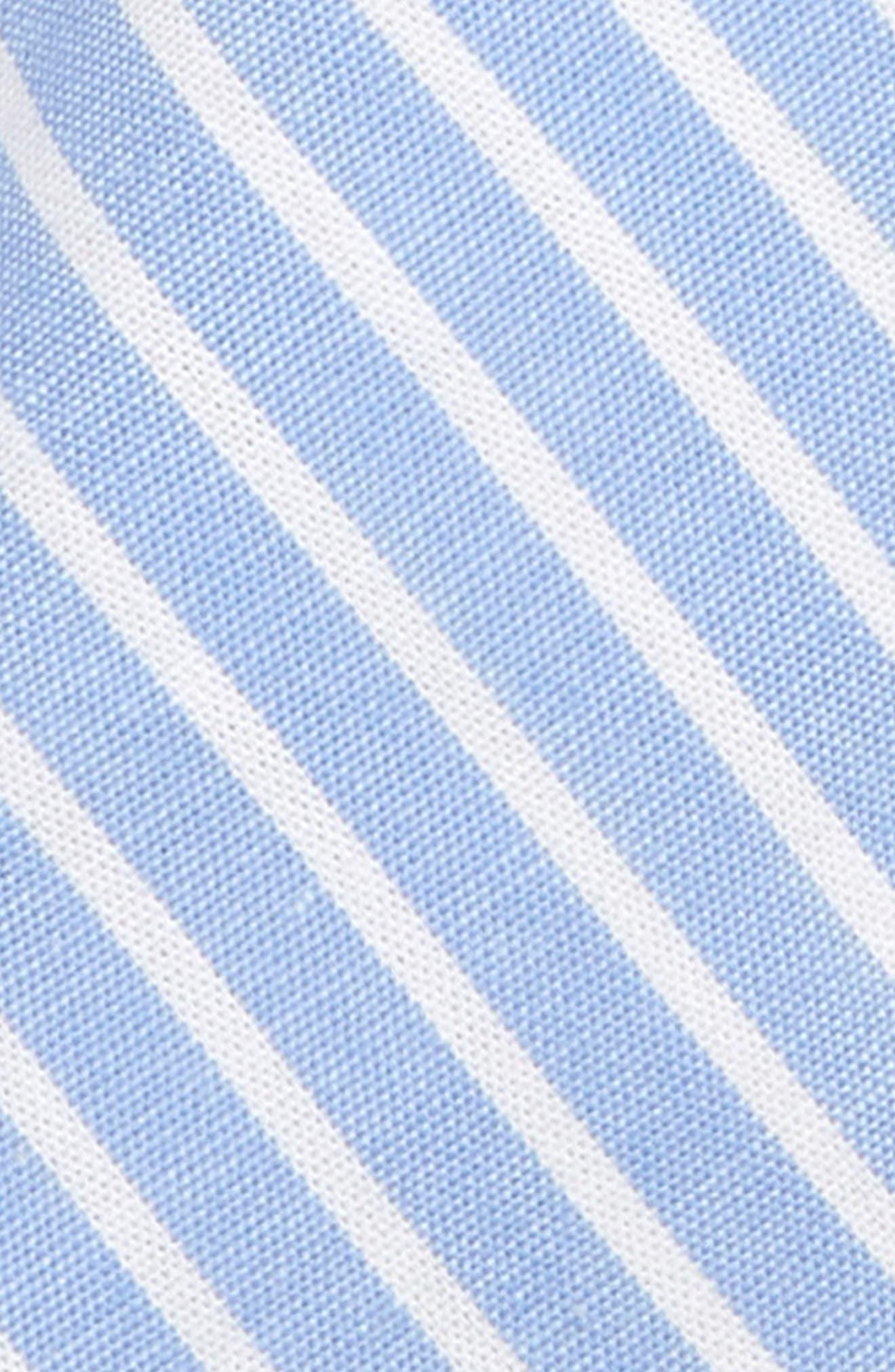 NORDSTROM, Adam Stripe Cotton Tie, Alternate thumbnail 2, color, BLUE