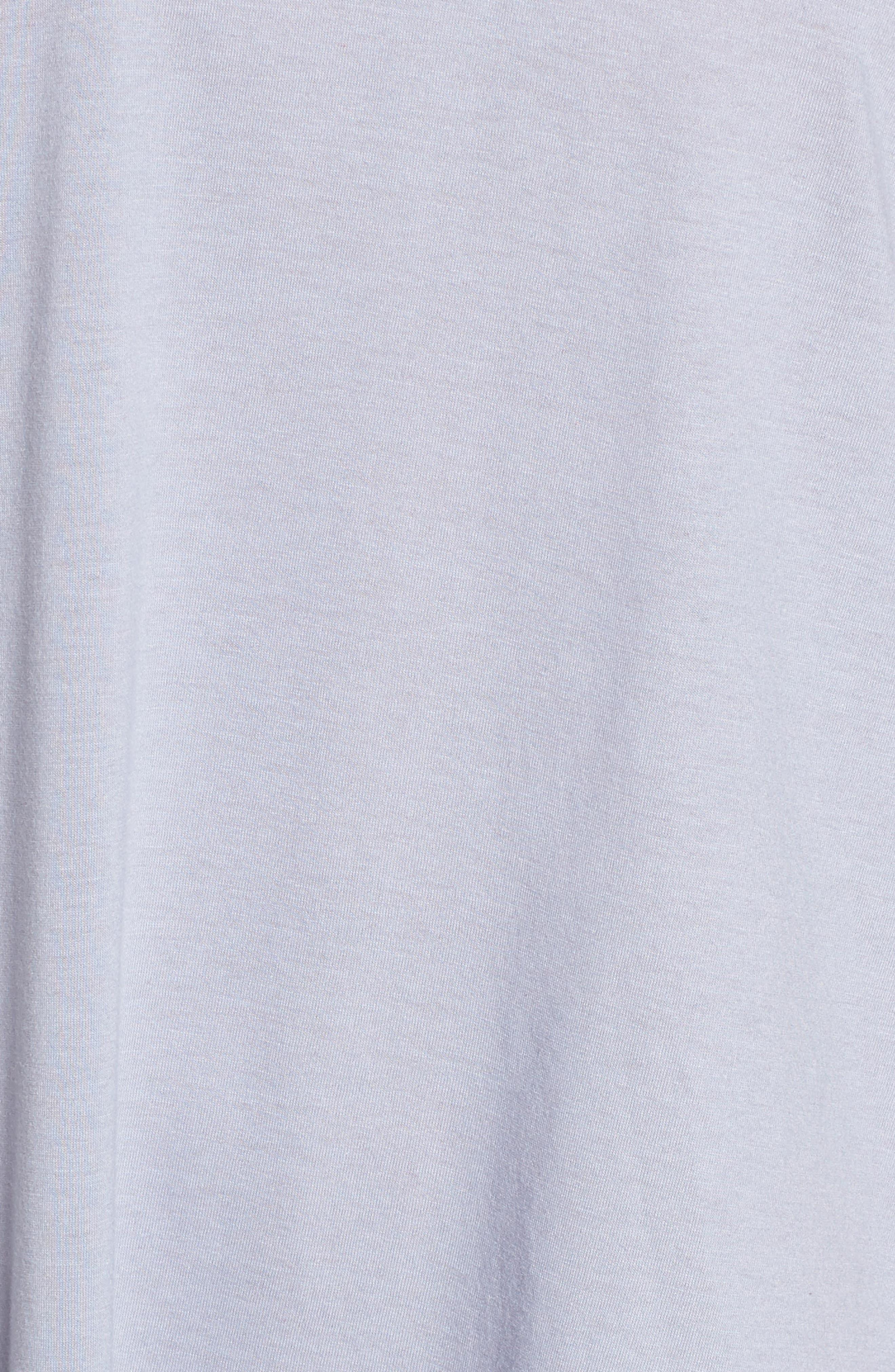 NATORI, V-Neck Sleep Shirt, Alternate thumbnail 5, color, SLATE BLUE