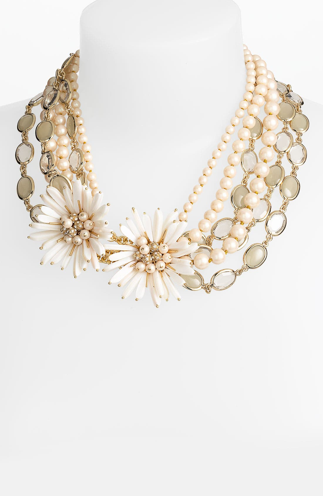 KATE SPADE NEW YORK 'moonlight pearls' necklace, Main, color, 250