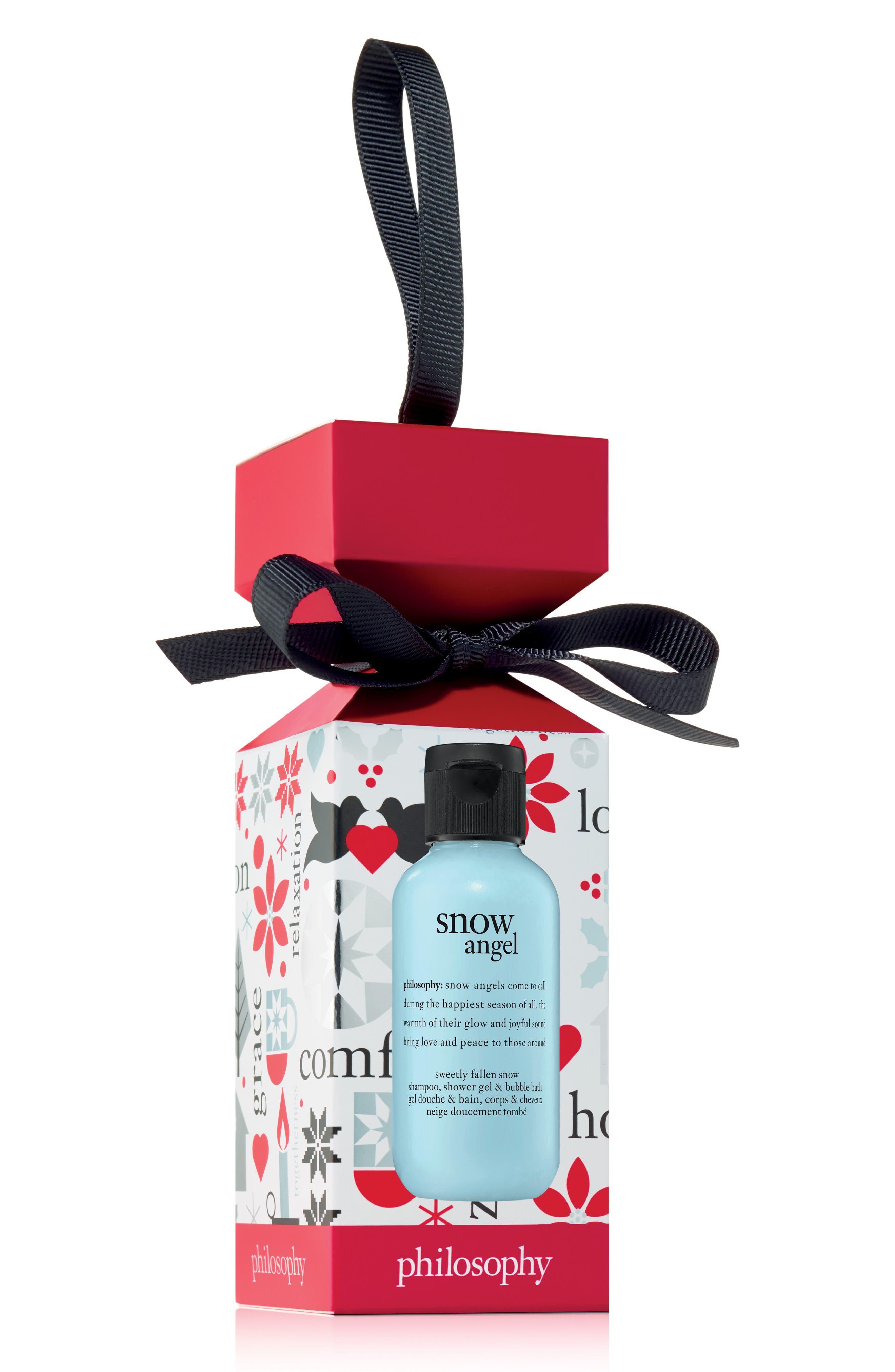 PHILOSOPHY, sweetly fallen snow shampoo, shower gel & bubble bath ornament, Main thumbnail 1, color, 000