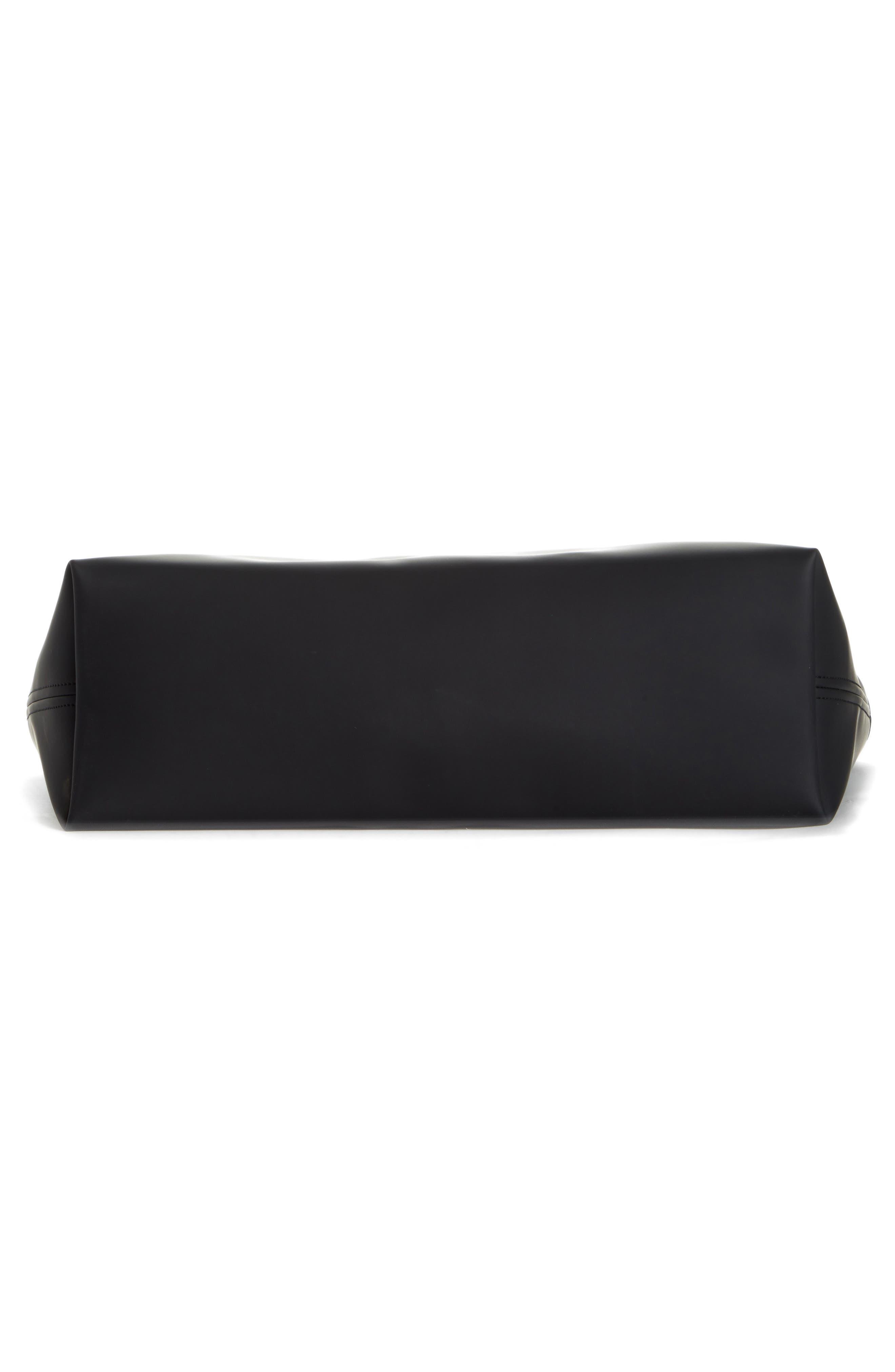 SIMON MILLER, Medium Tent Rubber Tote, Alternate thumbnail 6, color, BLACK