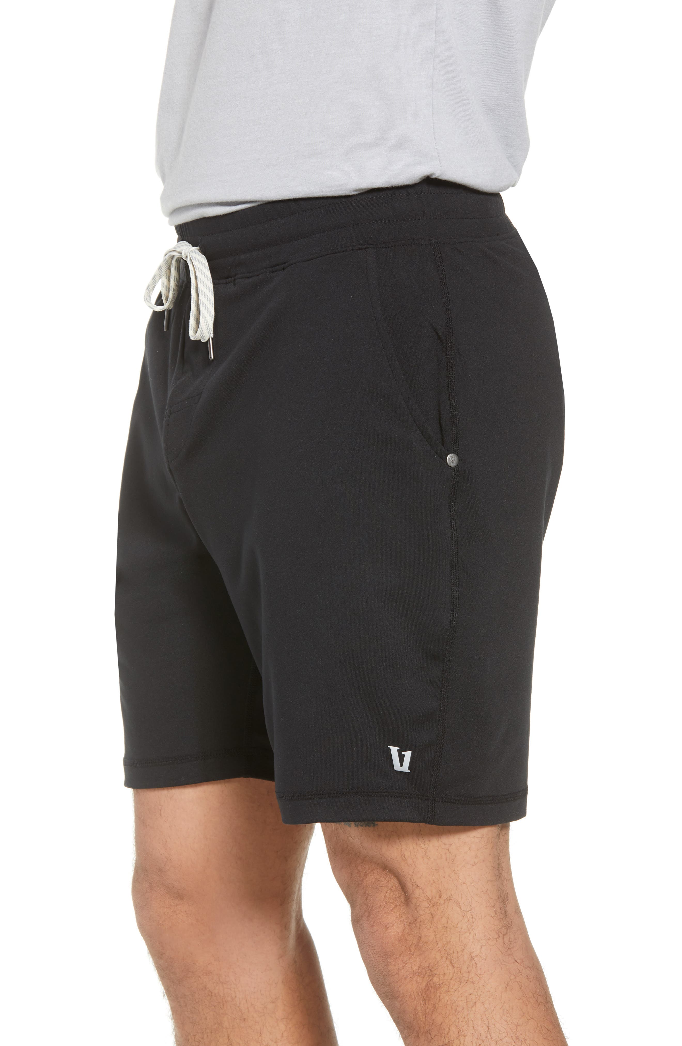 VUORI, Ponto Shorts, Alternate thumbnail 3, color, BLACK