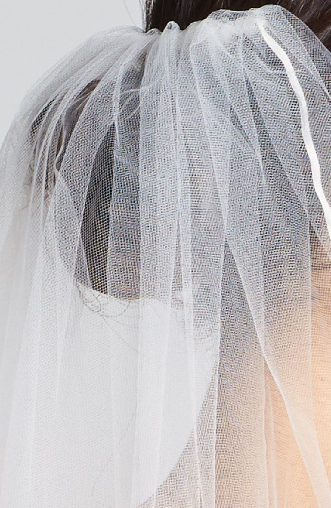 WEDDING BELLES NEW YORK, 'Mable' Veil, Alternate thumbnail 2, color, IVORY