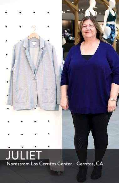 Double Pocket Knit Blazer, sales video thumbnail