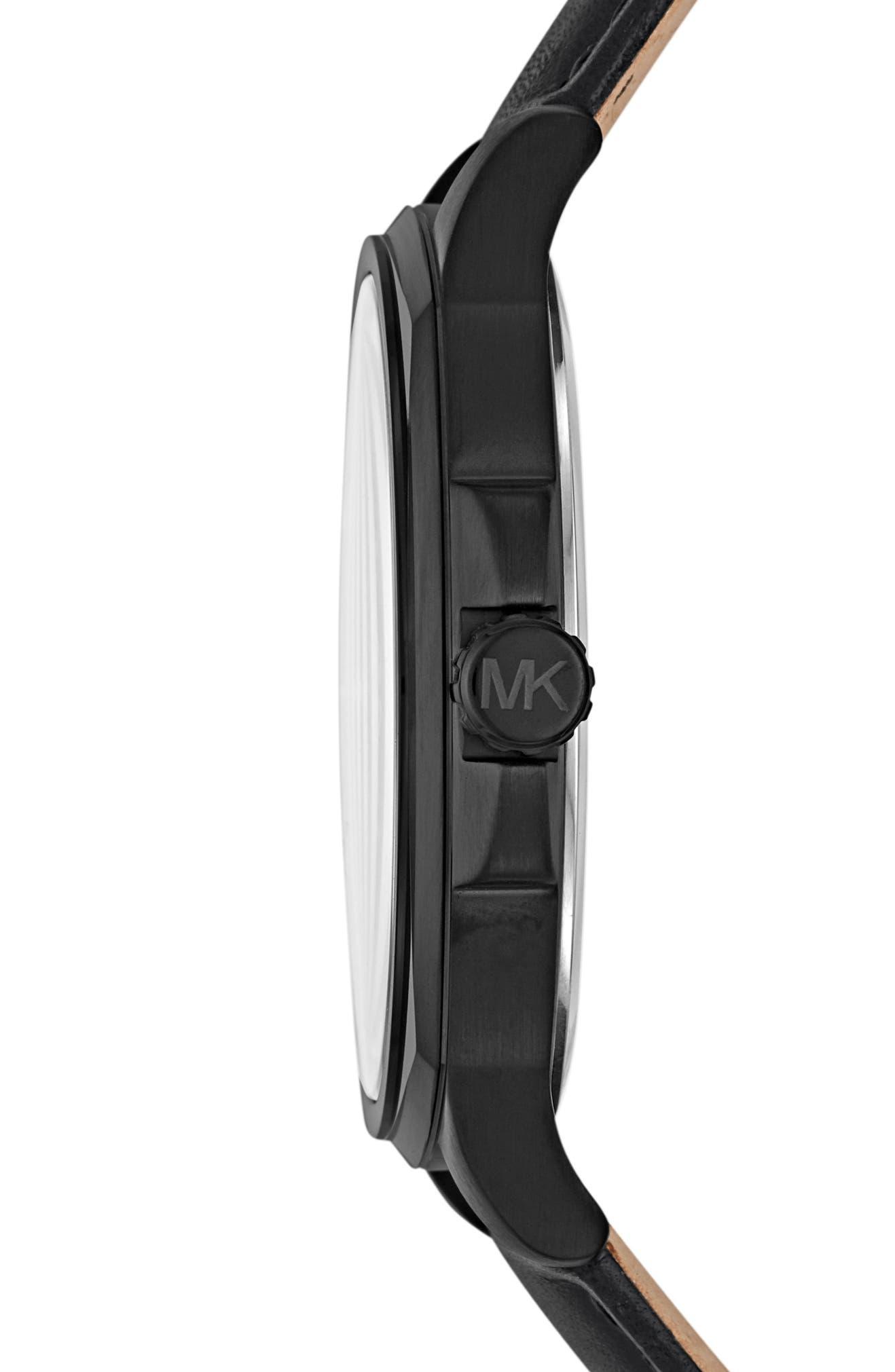 03230ba8b0f9 Michael Kors Bryson Leather Strap Watch