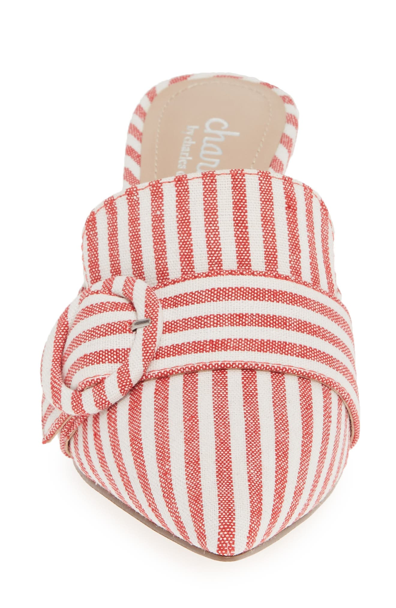 CHARLES BY CHARLES DAVID, Acapulco Mule, Alternate thumbnail 4, color, CANDY RED FABRIC
