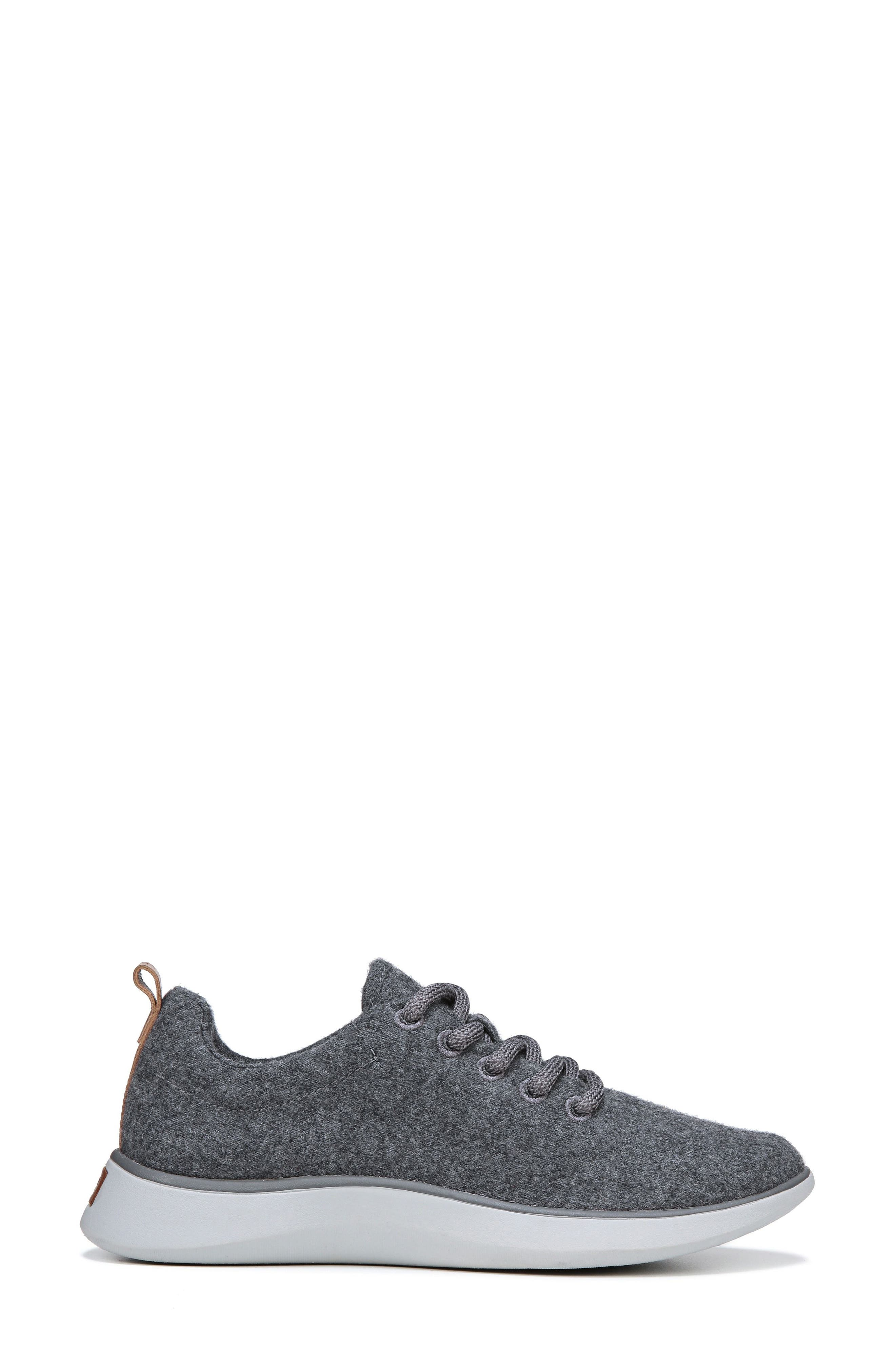DR. SCHOLL'S, Freestep Sneaker, Alternate thumbnail 2, color, DARK GREY FABRIC