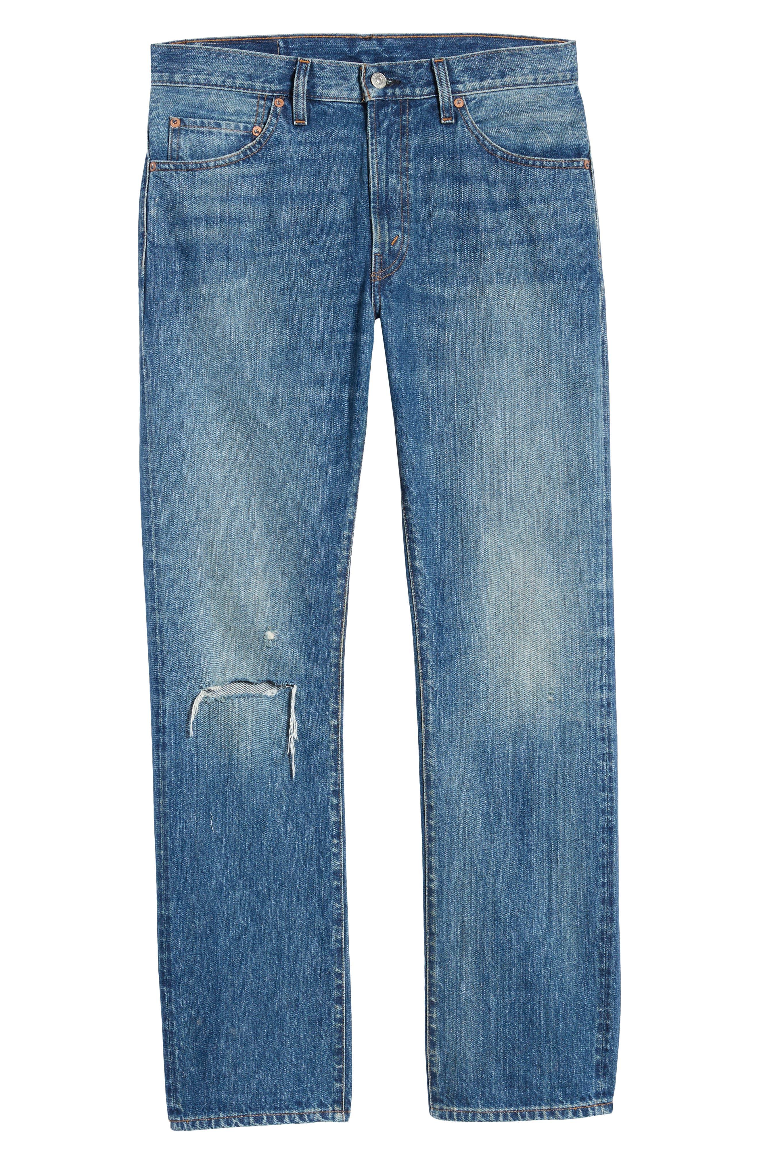 LEVI'S<SUP>®</SUP> VINTAGE CLOTHING, 1967 505<sup>™</sup> Slim Fit Selvedge Jeans, Alternate thumbnail 7, color, SPUTNIK