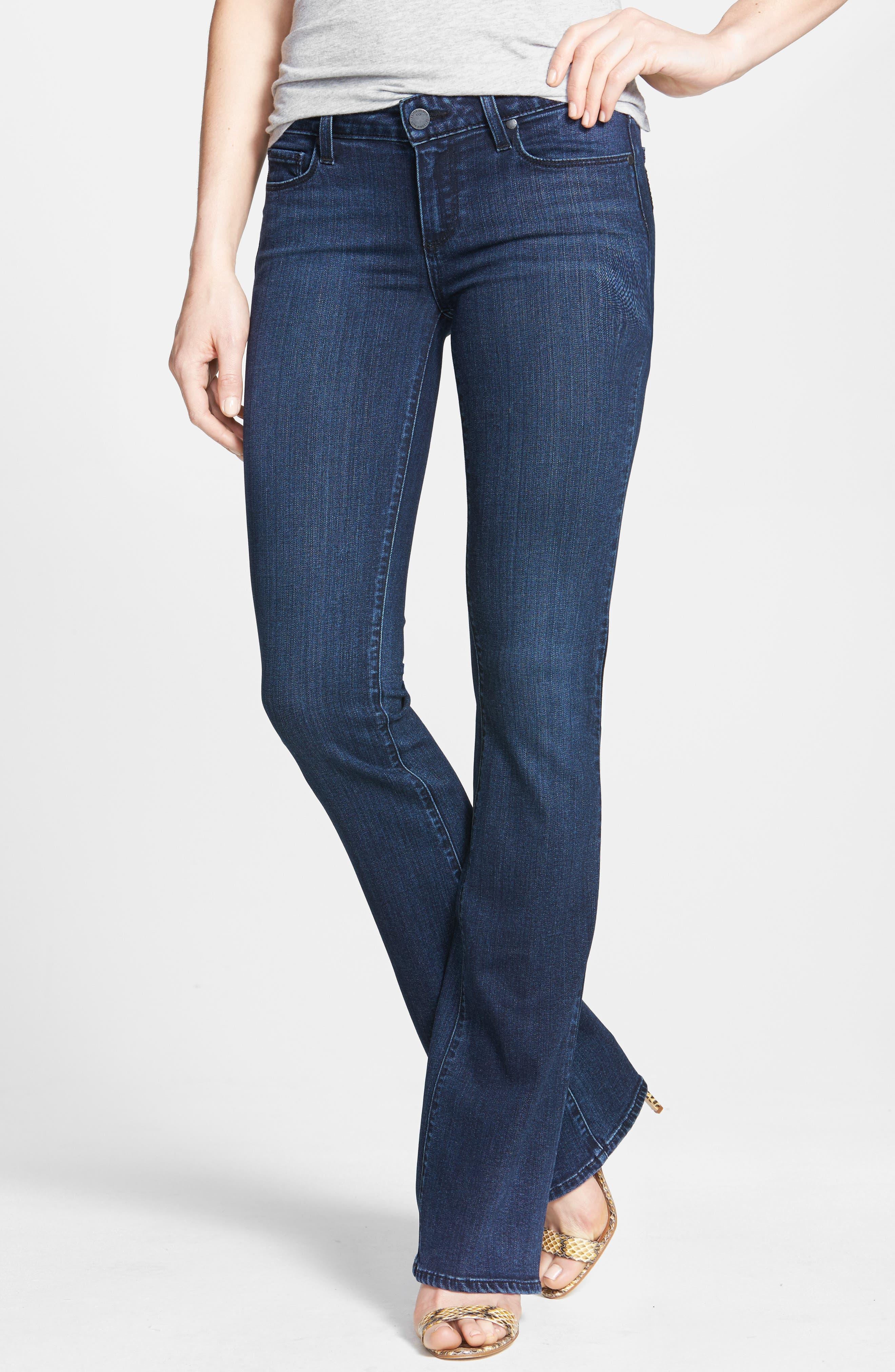 PAIGE, Transcend - Skyline Bootcut Jeans, Main thumbnail 1, color, VALOR