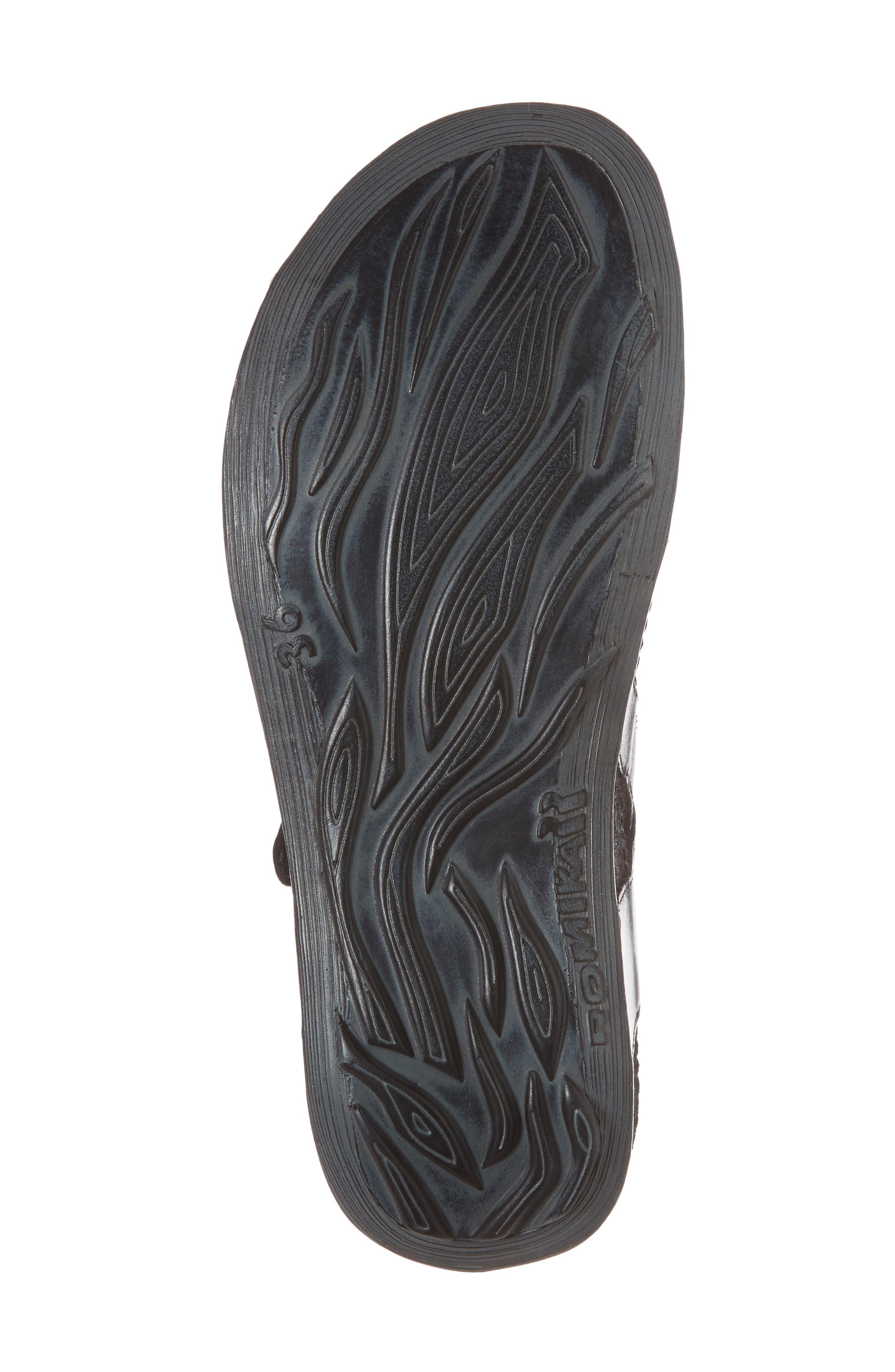 ROMIKA<SUP>®</SUP>, Fidschi 54 Sandal, Alternate thumbnail 6, color, BLACK LEATHER