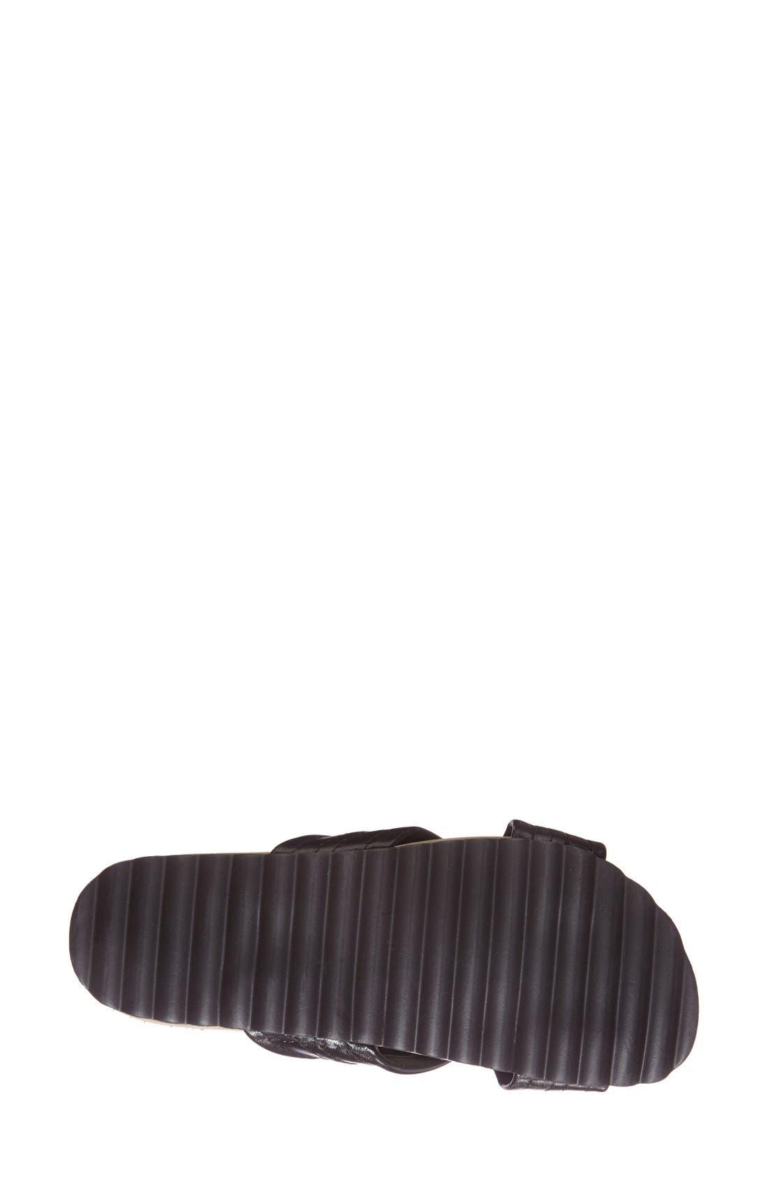 DUNE LONDON, 'Jolenes' Leather Slide Sandal, Alternate thumbnail 4, color, 002