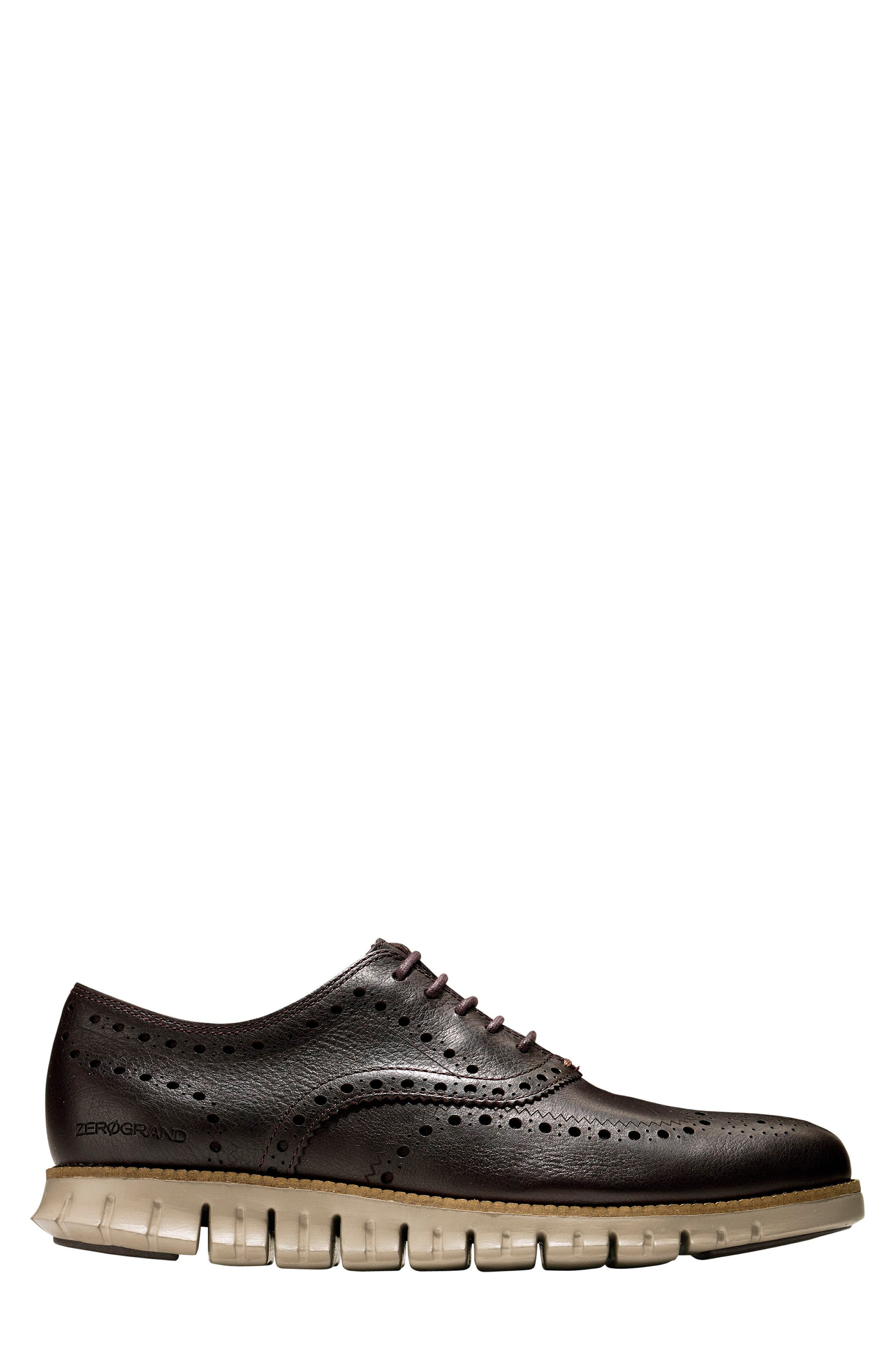 COLE HAAN, 'ZeroGrand' Wingtip Oxford, Alternate thumbnail 3, color, JAVA LEATHER