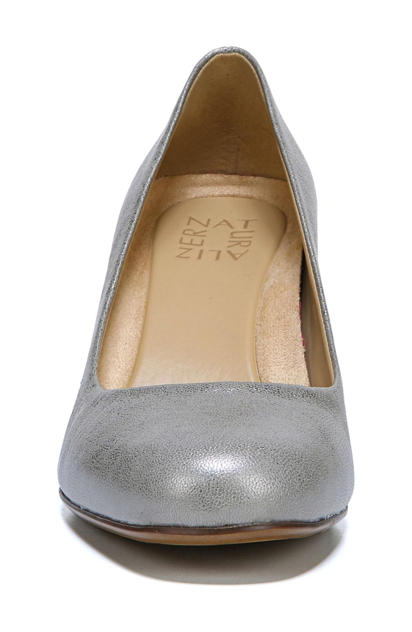NATURALIZER, Whitney Pump, Alternate thumbnail 4, color, SILVER LEATHER