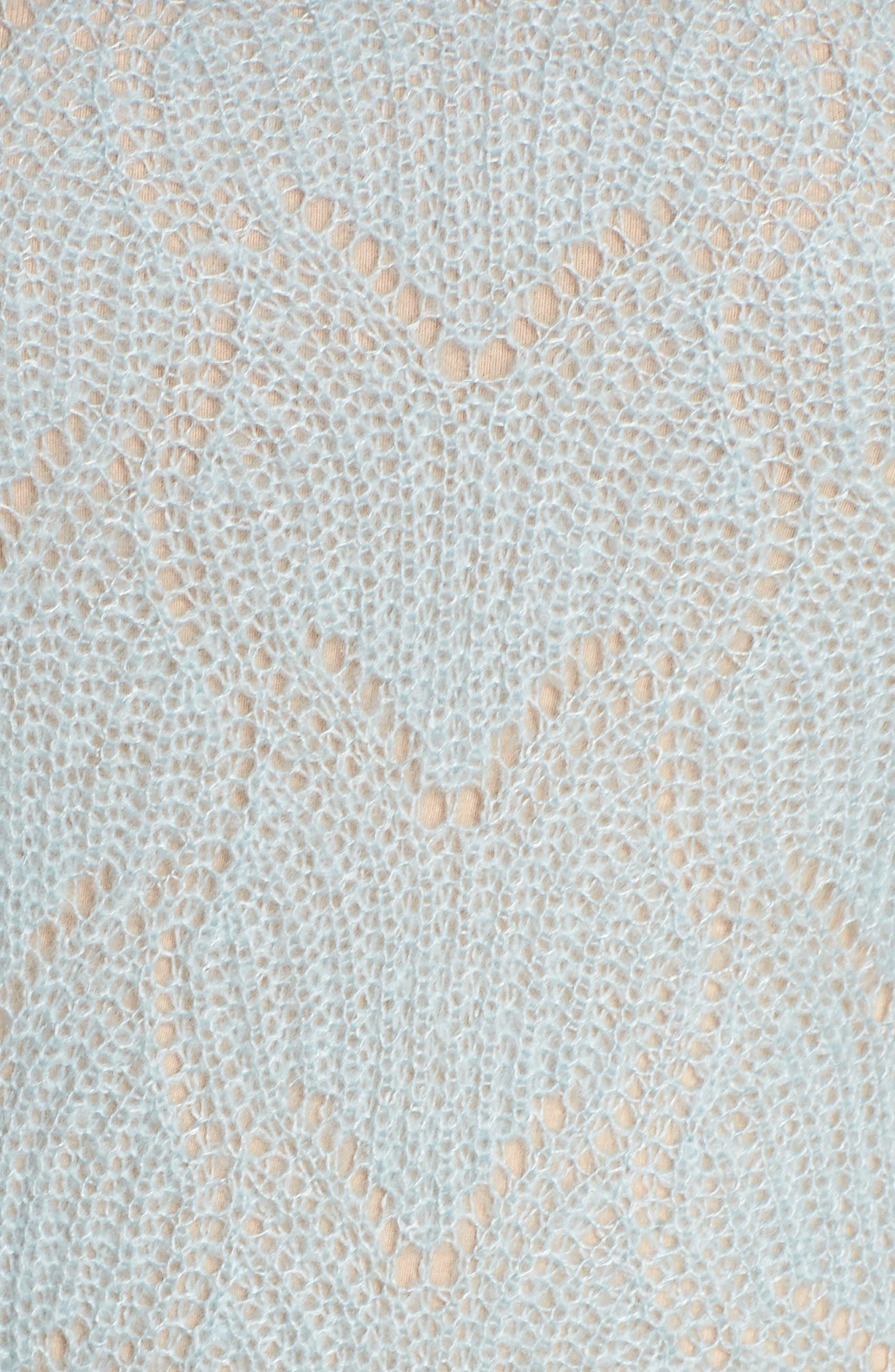 BP., Pointelle Stitch Sweater, Alternate thumbnail 11, color, BLUE CLOUD