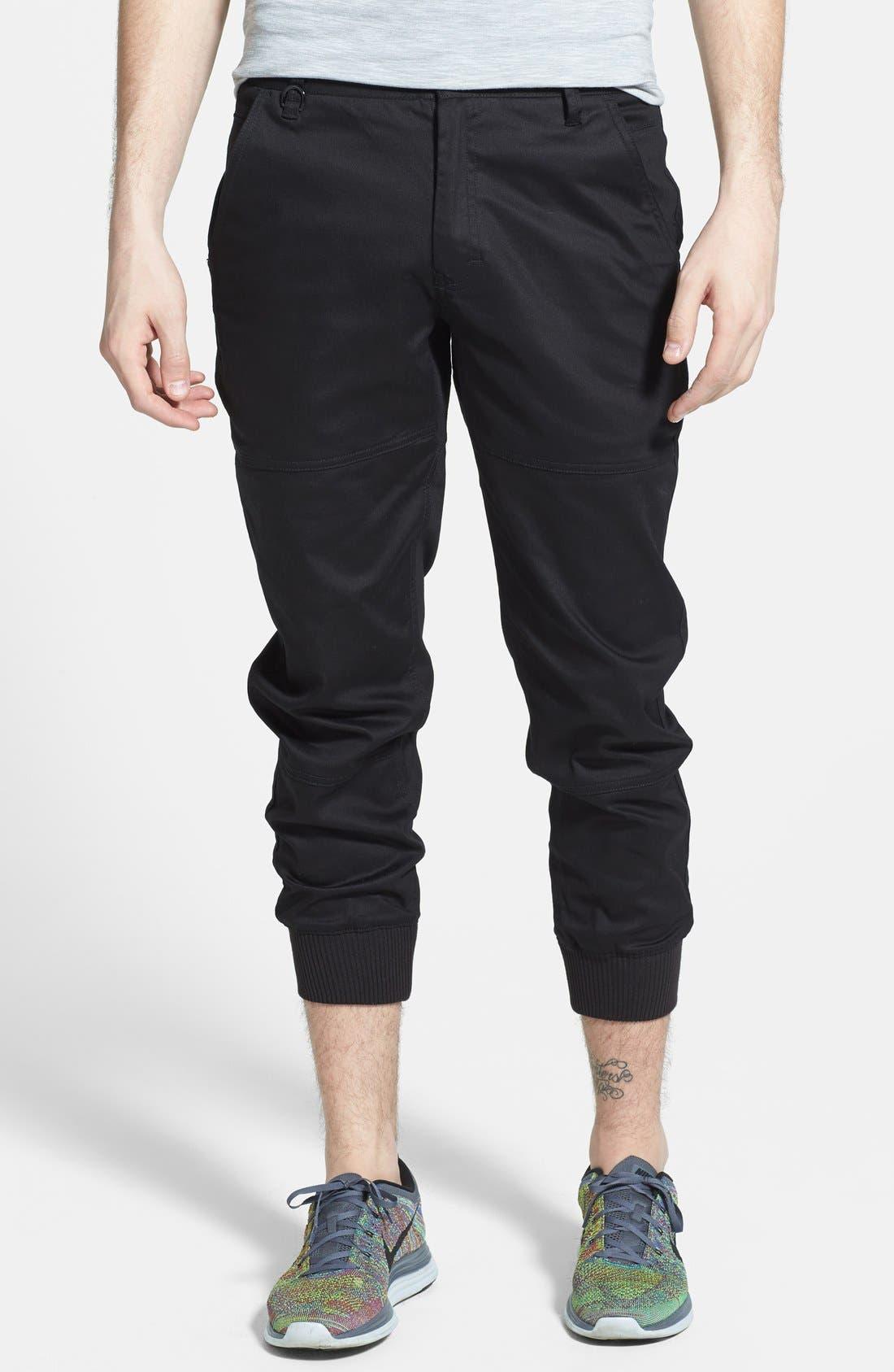 PUBLISH BRAND, 'Legacy' Tailored Fit Jogger Pants, Main thumbnail 1, color, 001