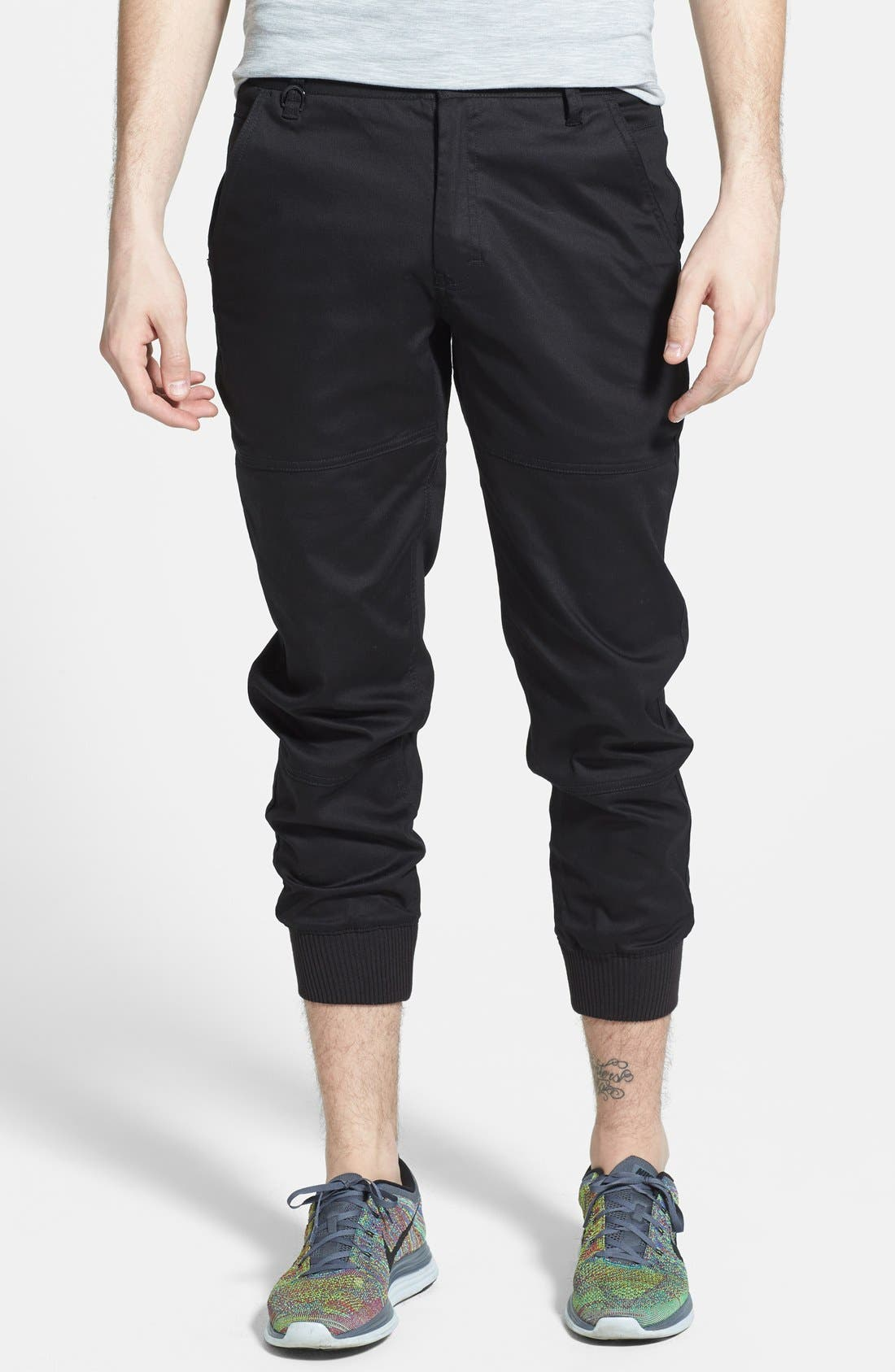 PUBLISH BRAND 'Legacy' Tailored Fit Jogger Pants, Main, color, 001