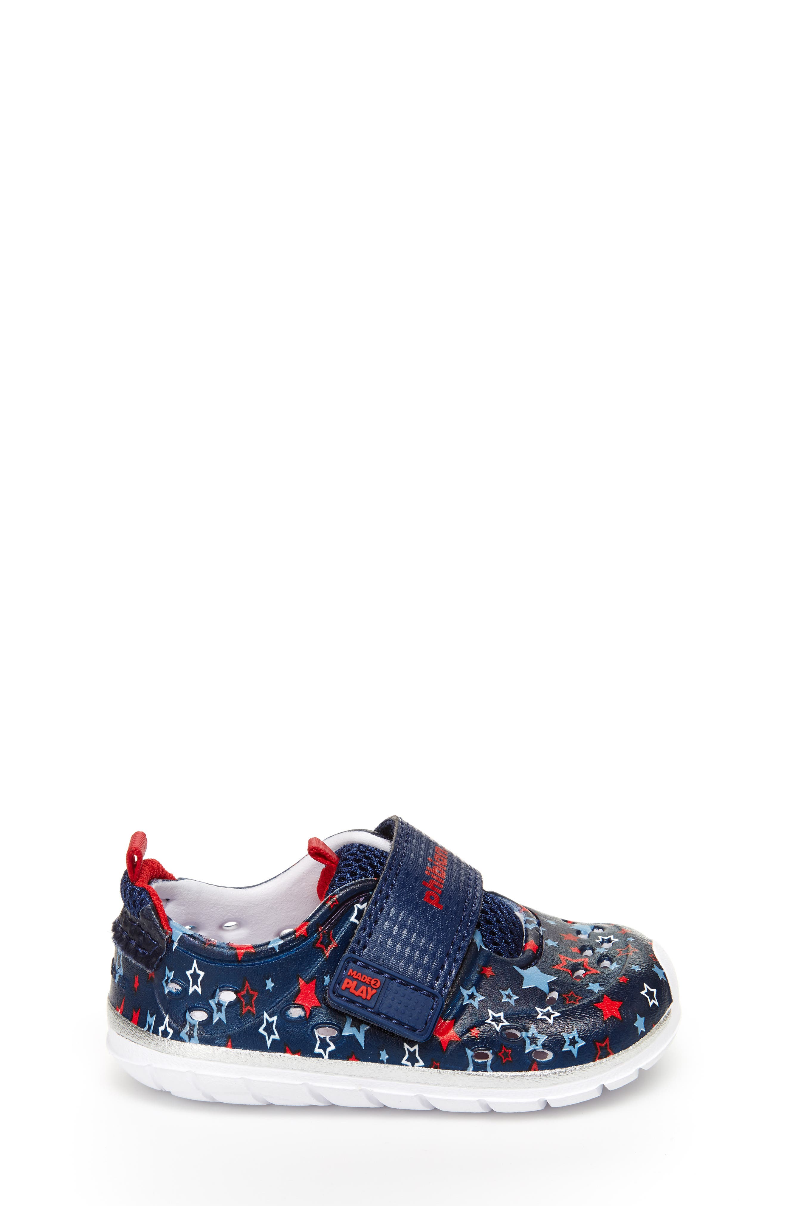 STRIDE RITE, Made2Play<sup>®</sup> Phibian Sneaker, Alternate thumbnail 3, color, NAVY STAR