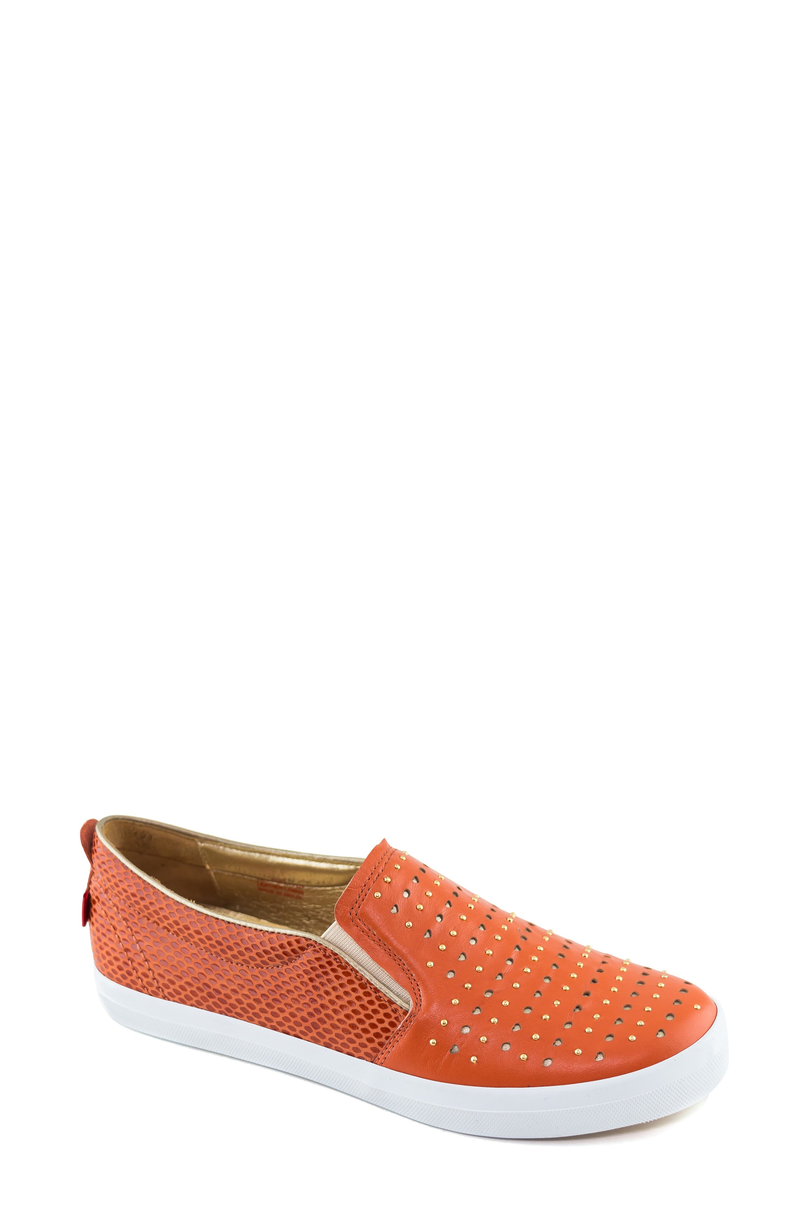 MARC JOSEPH NEW YORK Soho Sneaker, Main, color, CORAL LEATHER
