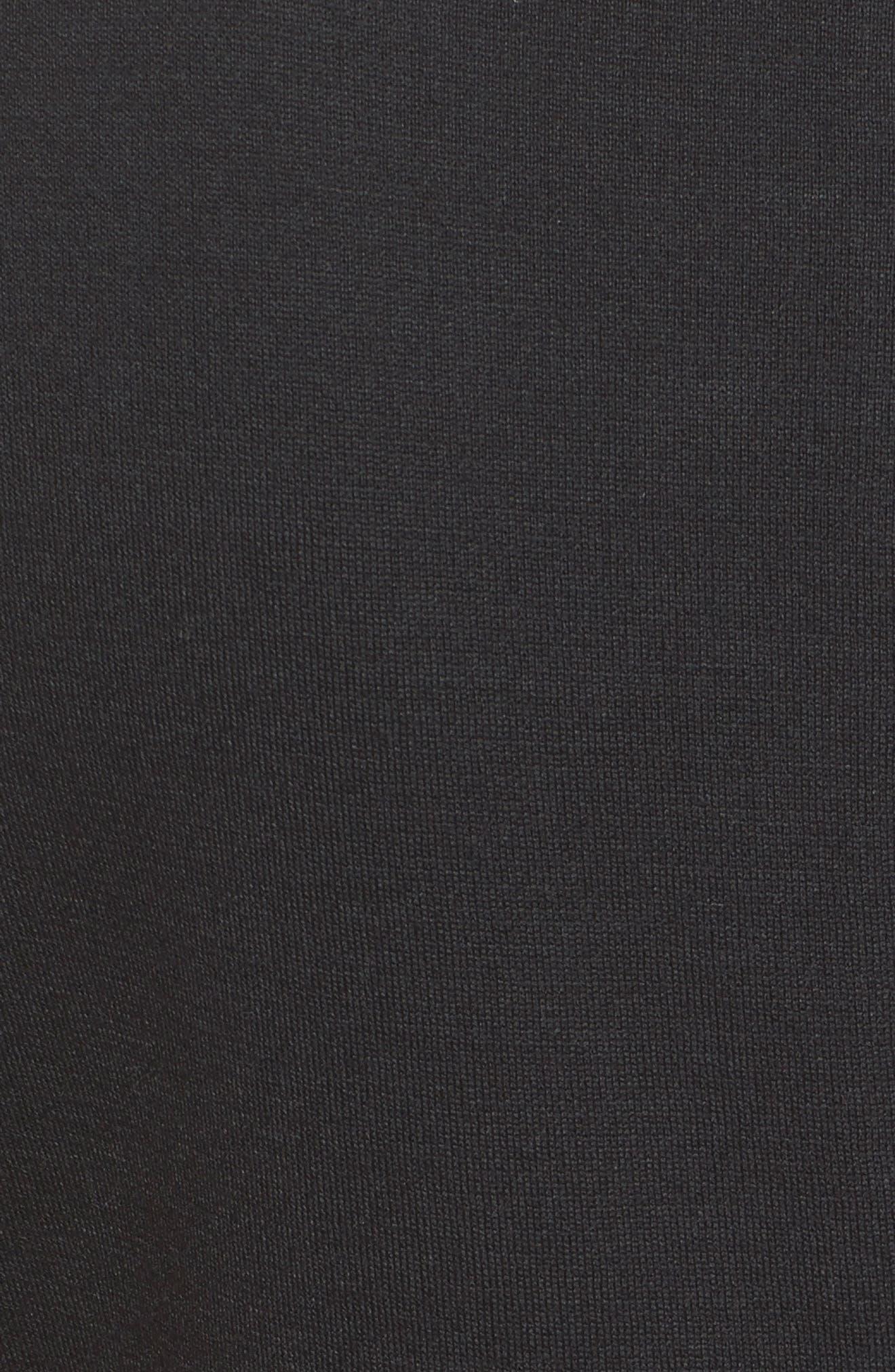 ST. JOHN COLLECTION, Milano Knit Sheath Dress, Alternate thumbnail 6, color, CAVIAR