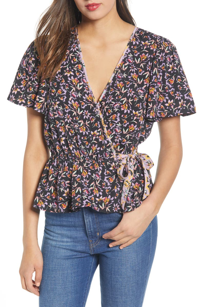 Band Of Gypsies NASHVILLE FLORAL PRINT TOP