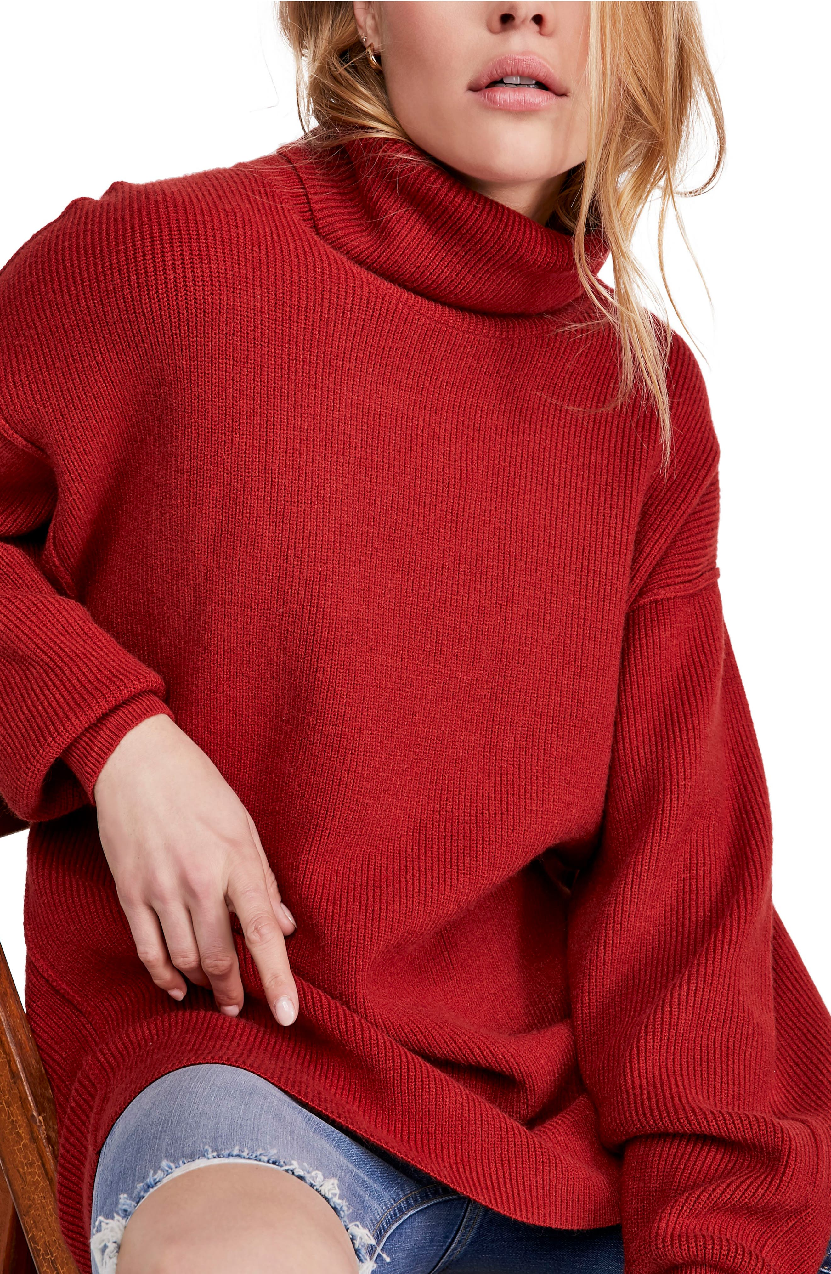 FREE PEOPLE, Softly Structured Knit Tunic, Alternate thumbnail 6, color, 600