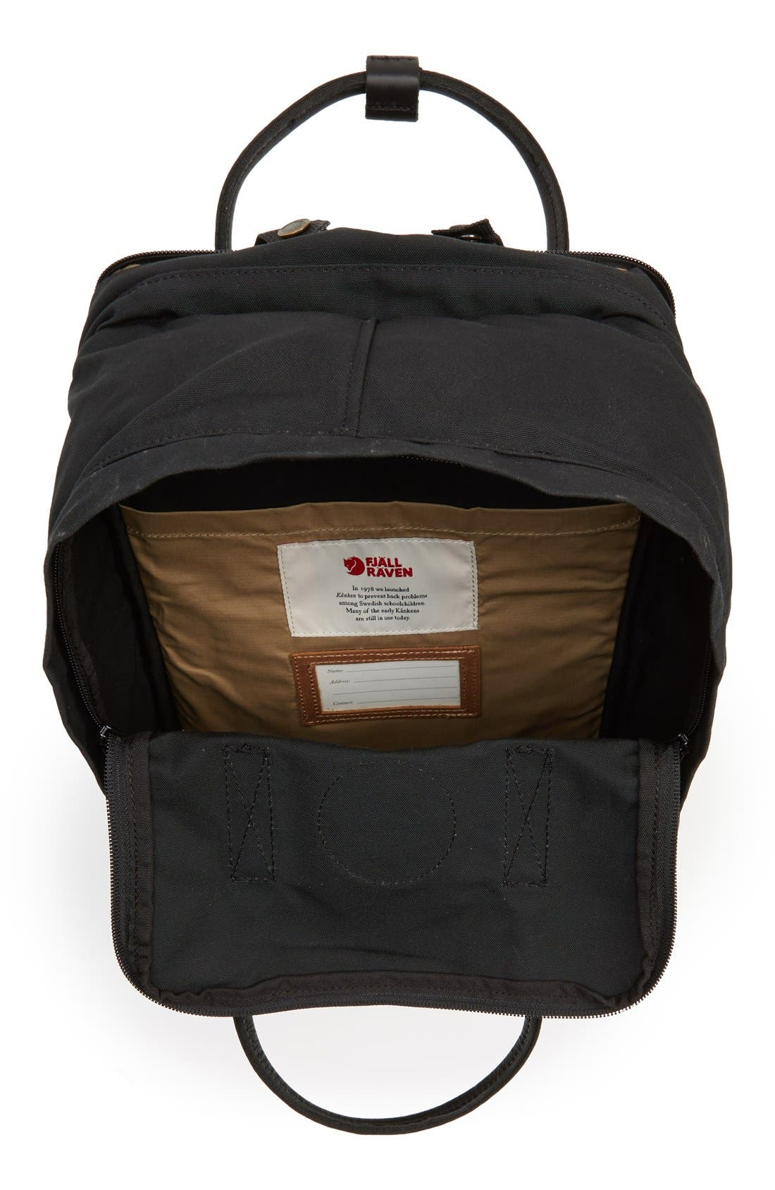 FJÄLLRÄVEN, Kånken No. 2 Laptop Backpack, Alternate thumbnail 6, color, 001