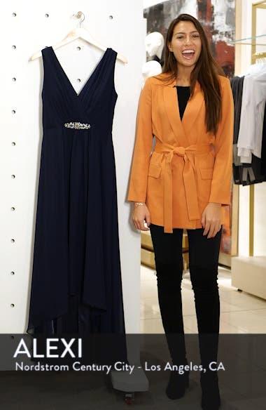 Wrap Look High/Low Chiffon Dress, sales video thumbnail