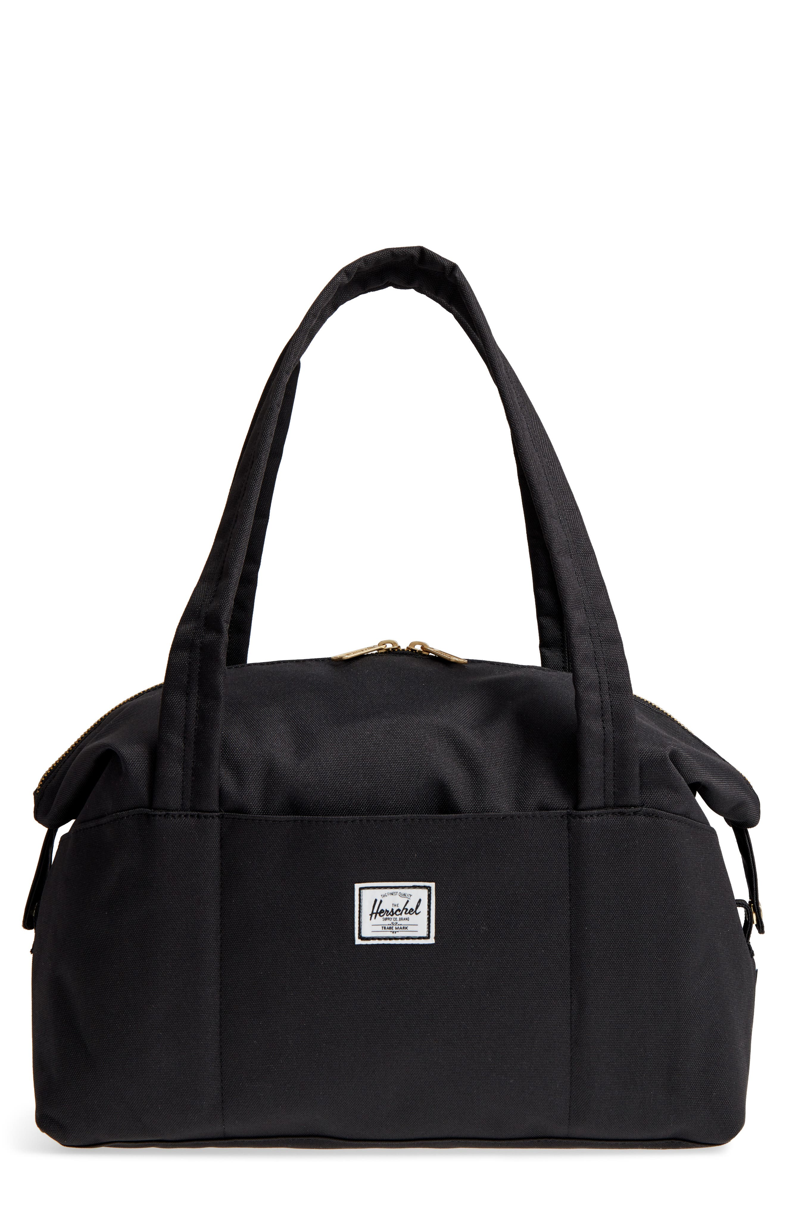 HERSCHEL SUPPLY CO., Extra Small Strand Duffle Bag, Main thumbnail 1, color, BLACK