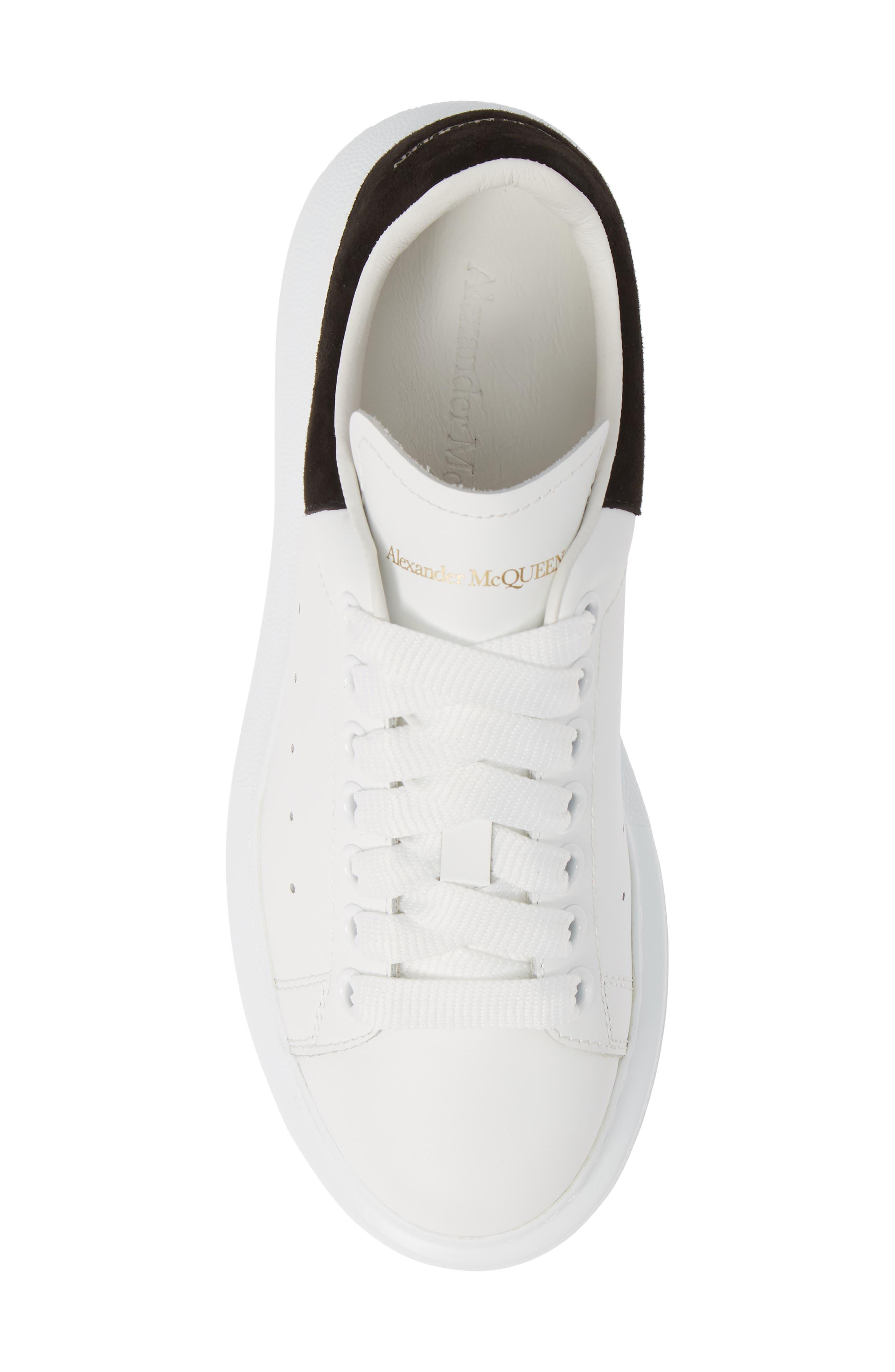 ALEXANDER MCQUEEN, Sneaker, Alternate thumbnail 5, color, WHITE BLACK