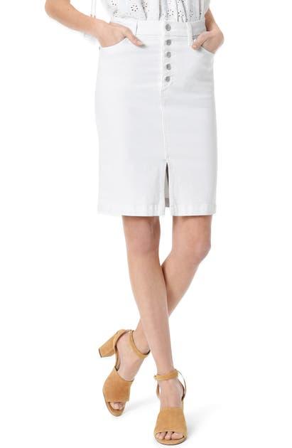 Joe's Skirts BUTTON FLY HIGH WAIST DENIM PENCIL SKIRT