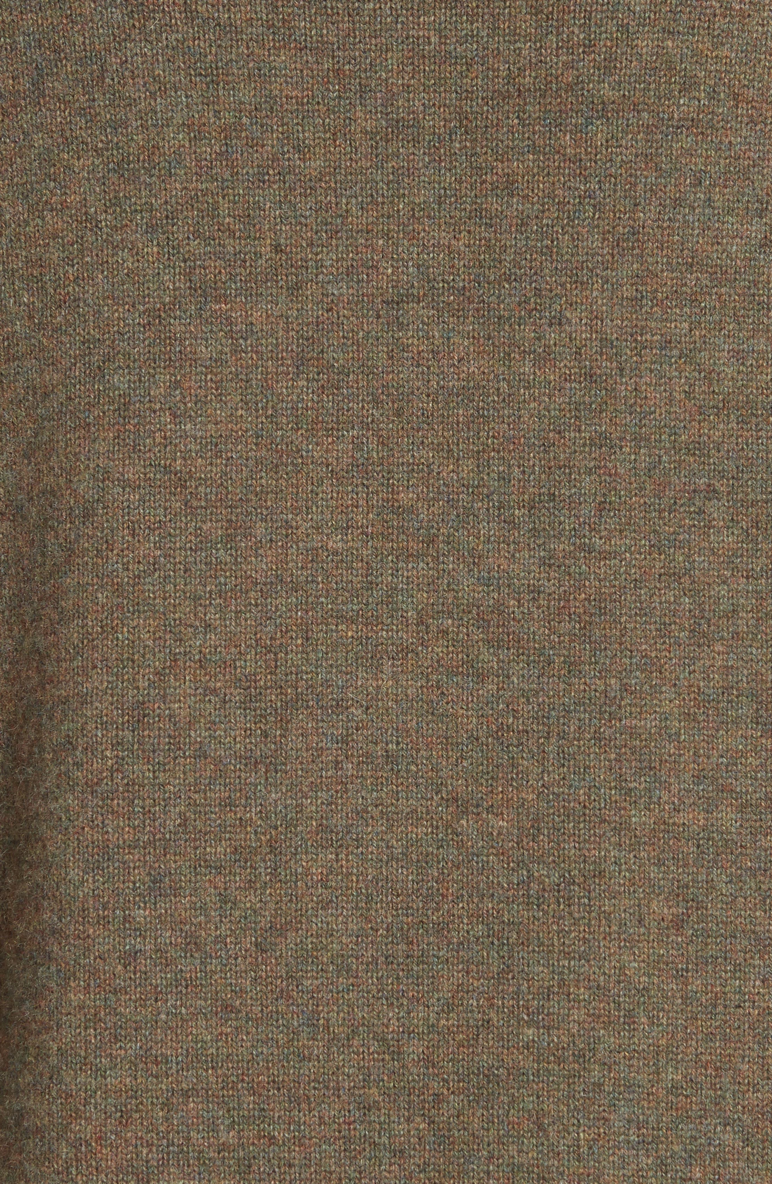 VICTORIA BECKHAM, Stretch Cashmere Turtleneck Sweater, Alternate thumbnail 6, color, OLIVE