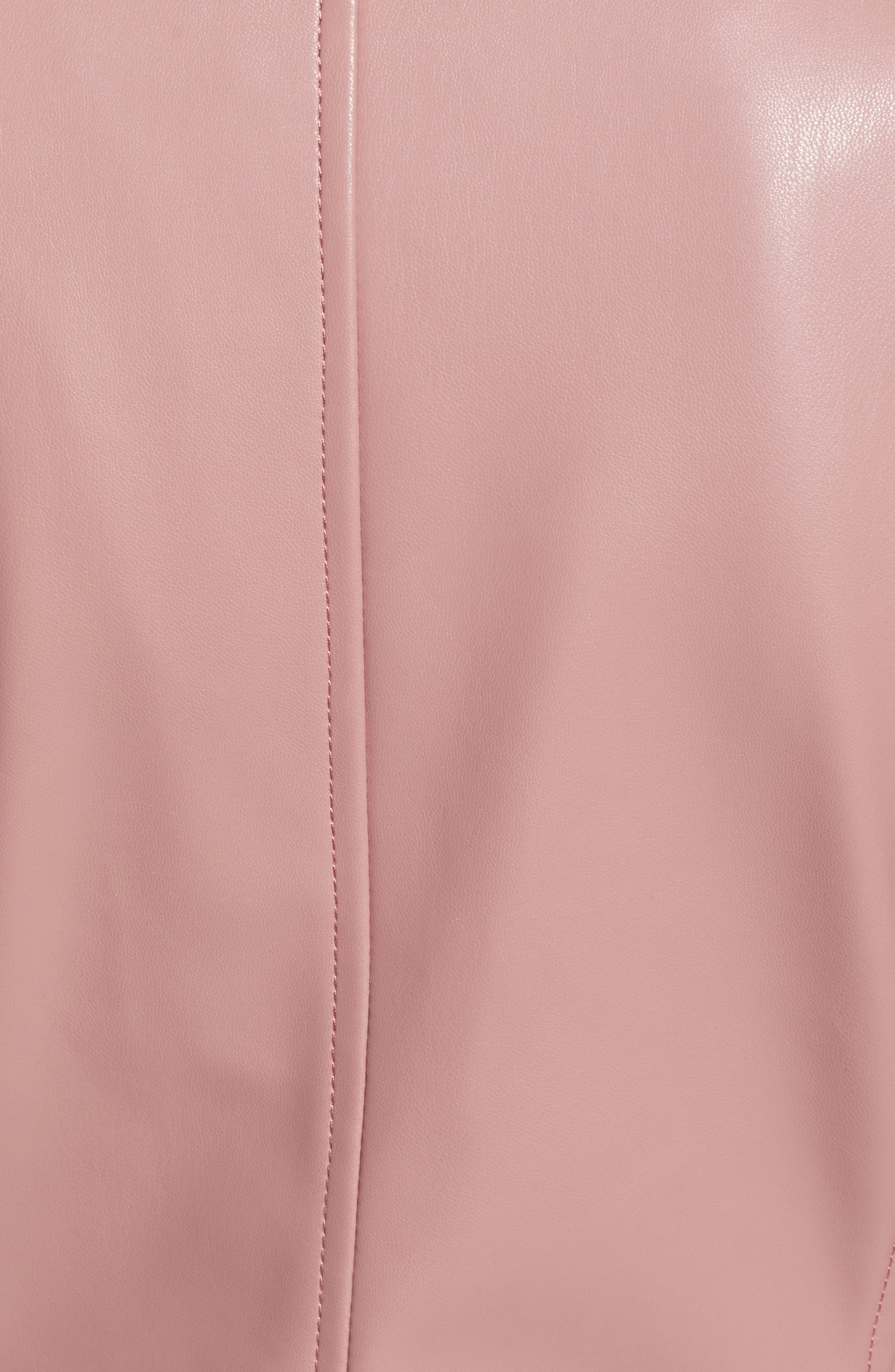 HALOGEN<SUP>®</SUP>, Quilted Faux Leather Moto Jacket, Alternate thumbnail 7, color, ROUGE