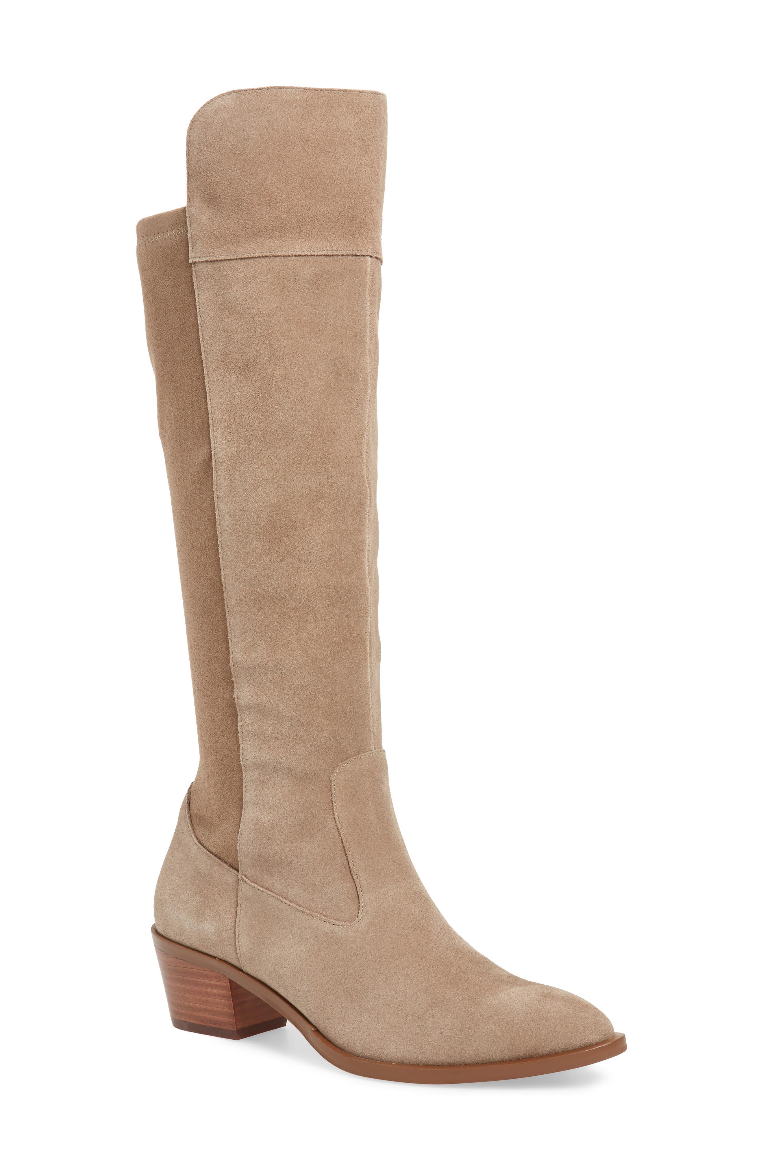 Sole Society Noamie Knee High Boot- Beige