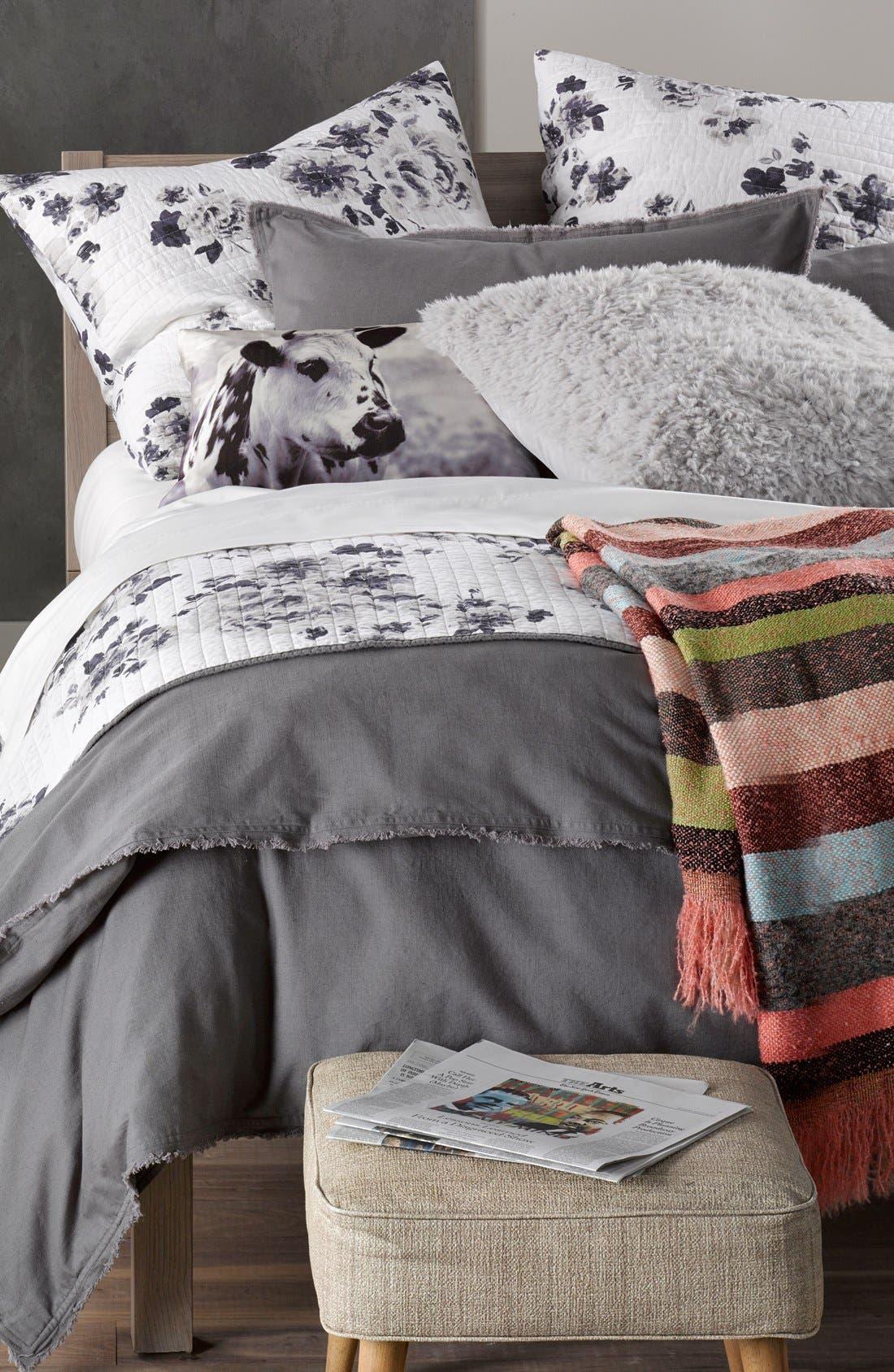 NORDSTROM AT HOME, 'Terra' Cotton & Linen Duvet Cover, Alternate thumbnail 4, color, 021