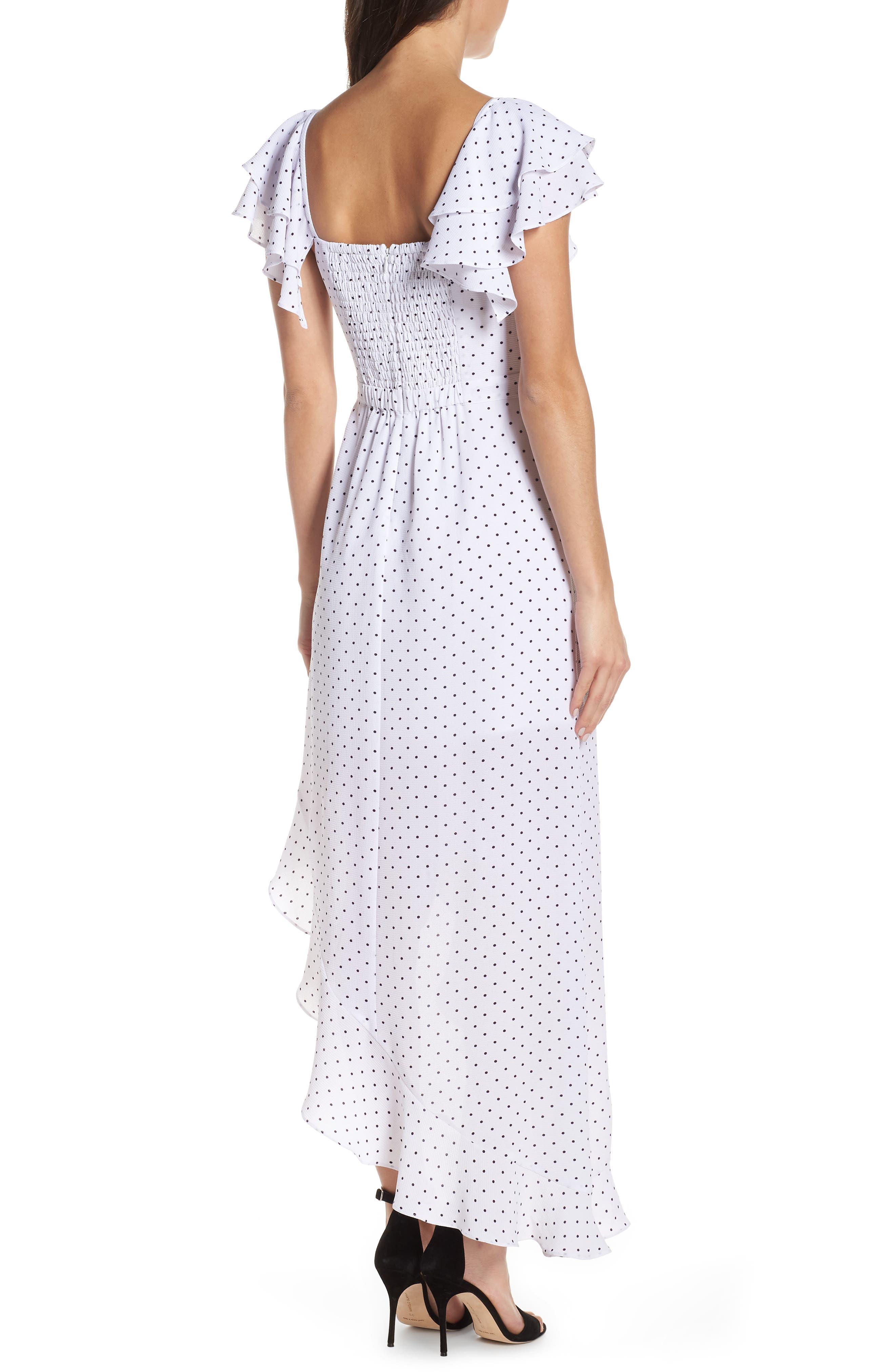ALI & JAY, Terrace Time Polka Dot Maxi Dress, Alternate thumbnail 2, color, 100