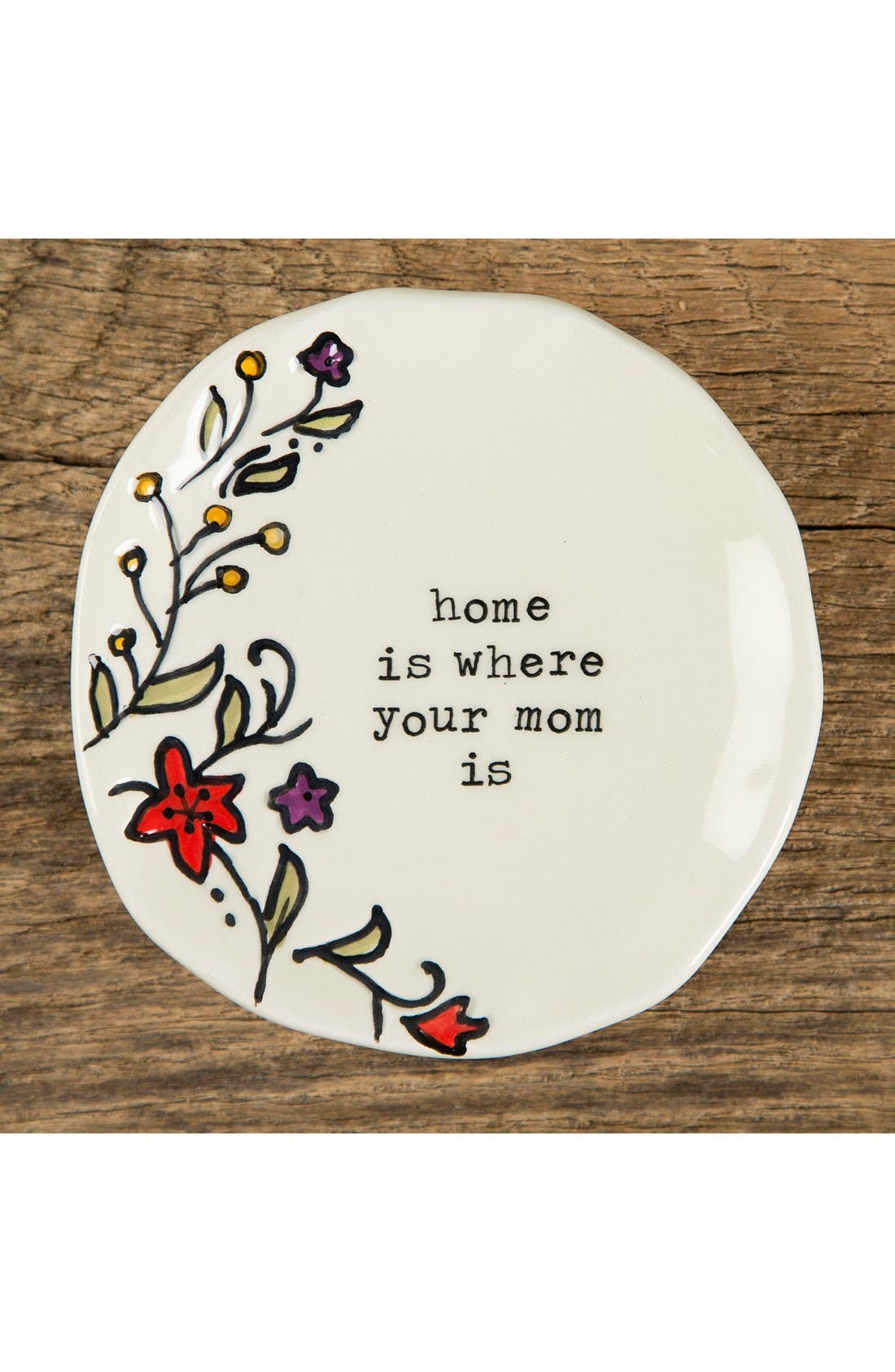 NATURAL LIFE, 'Home Is Where Your Mom Is' Ceramic Trinket Dish, Alternate thumbnail 2, color, 100