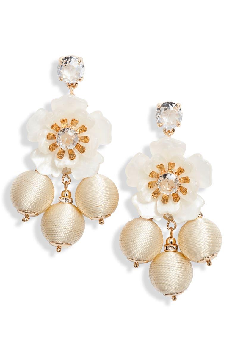 Rachel Parcell Floral Statement Chandelier Earrings (Nordstrom Exclusive) | Nordstrom