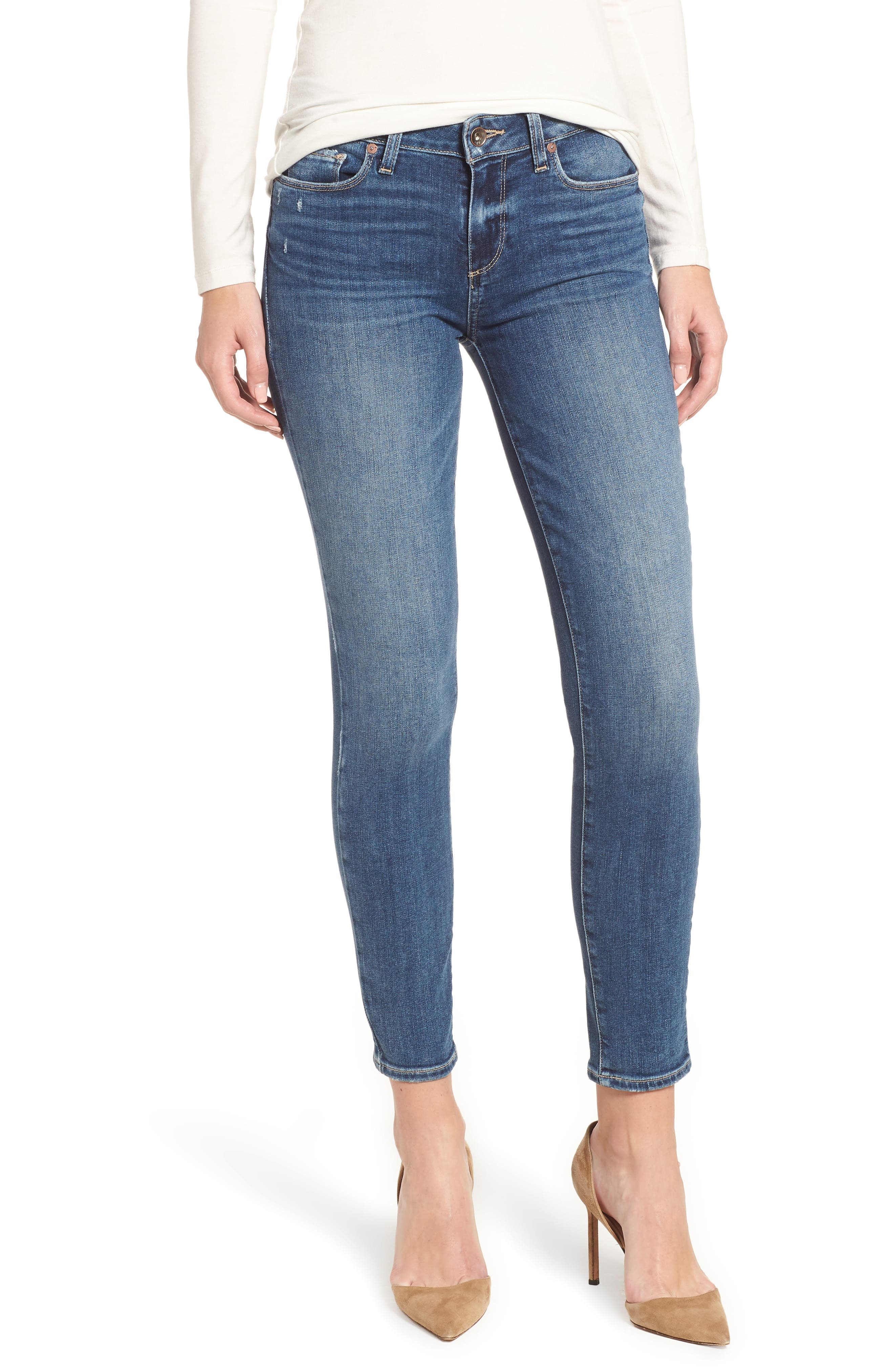 PAIGE Verdugo Ankle Skinny Jeans, Main, color, HANSEN