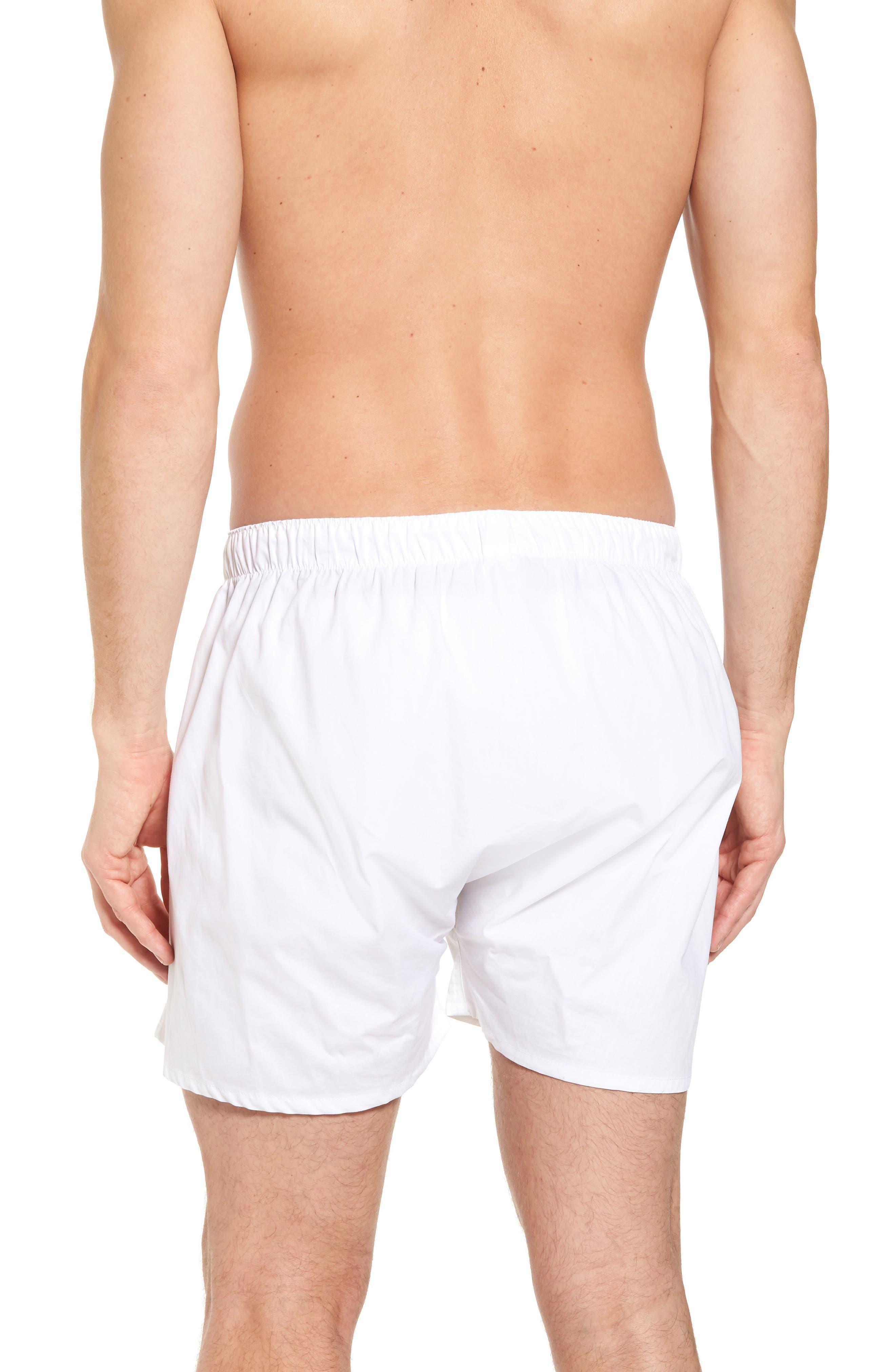MAJESTIC INTERNATIONAL, Majestic Boxer Shorts, Alternate thumbnail 2, color, WHITE