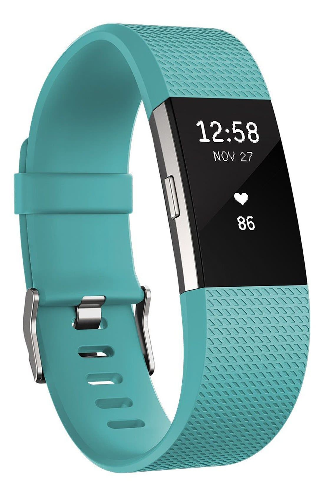 FITBIT, 'Charge 2' Wireless Activity & Heart Rate Tracker, Main thumbnail 1, color, 440