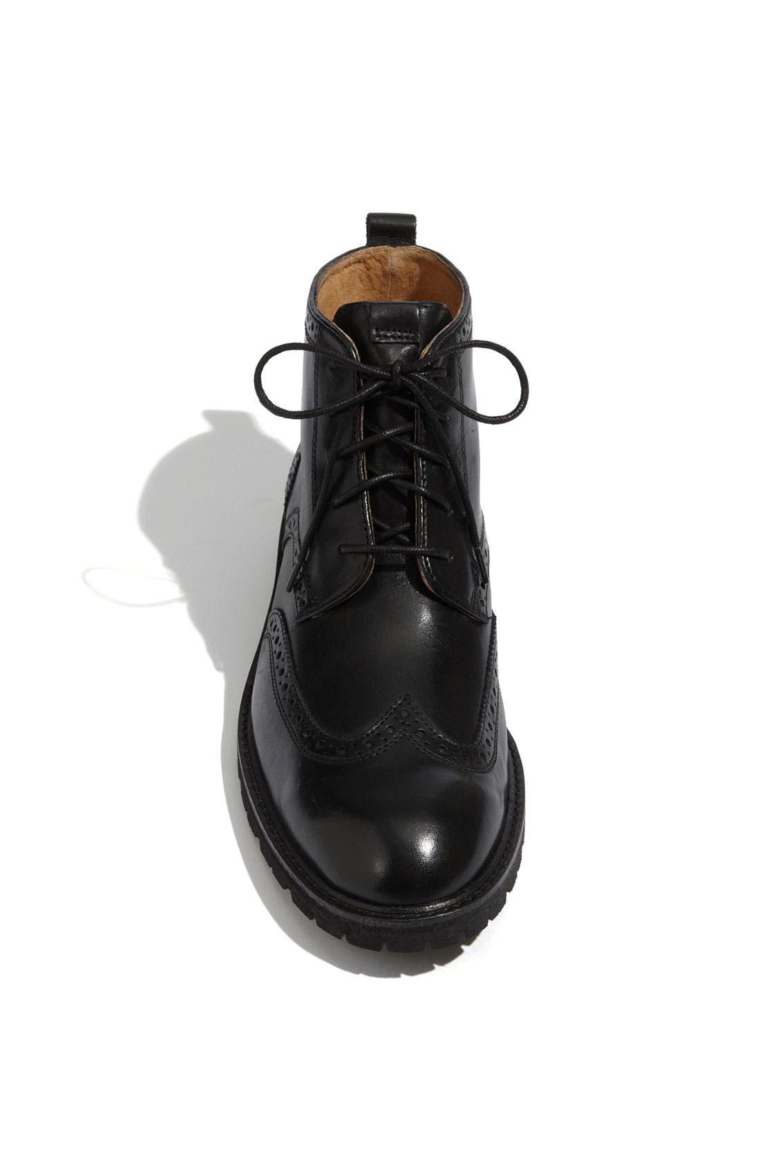 FLORSHEIM, 'Gaffney' Wingtip Boot, Alternate thumbnail 2, color, 001