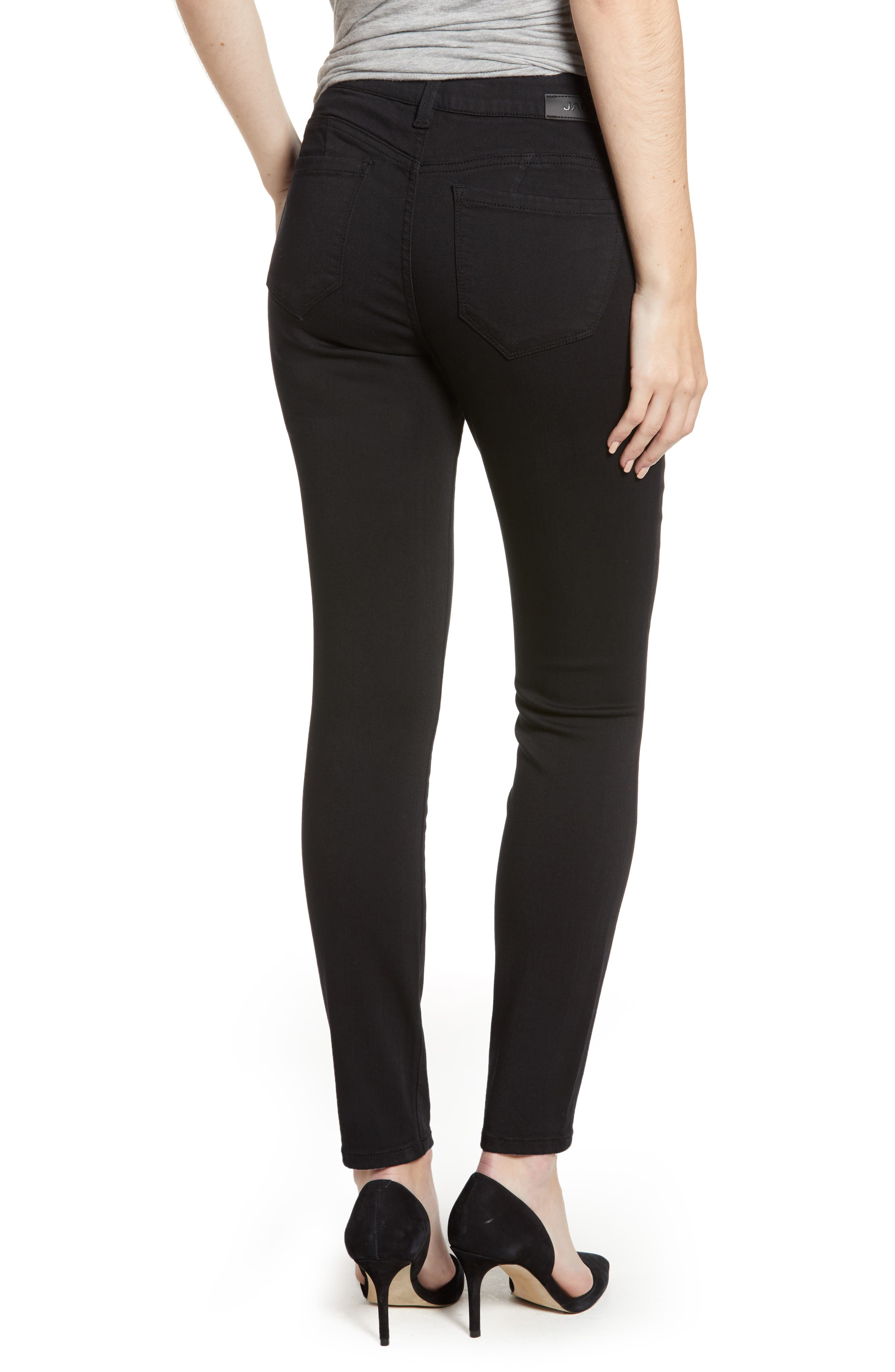 JAG JEANS, Bryn Pull-On Jeans, Alternate thumbnail 2, color, BLACK