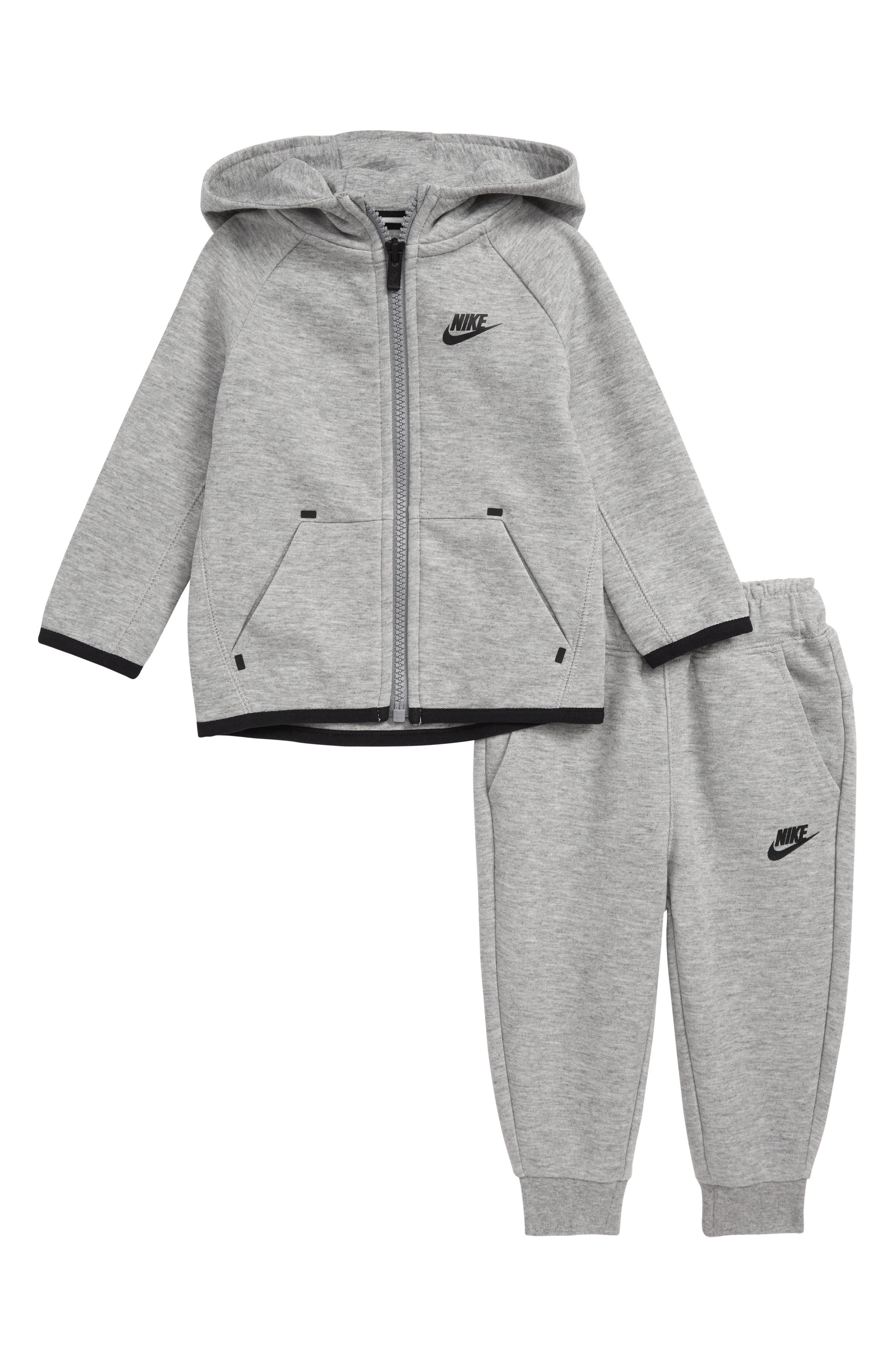 Infant Boys Nike Tech Fleece Zip Hoodie  Sweatpants Set