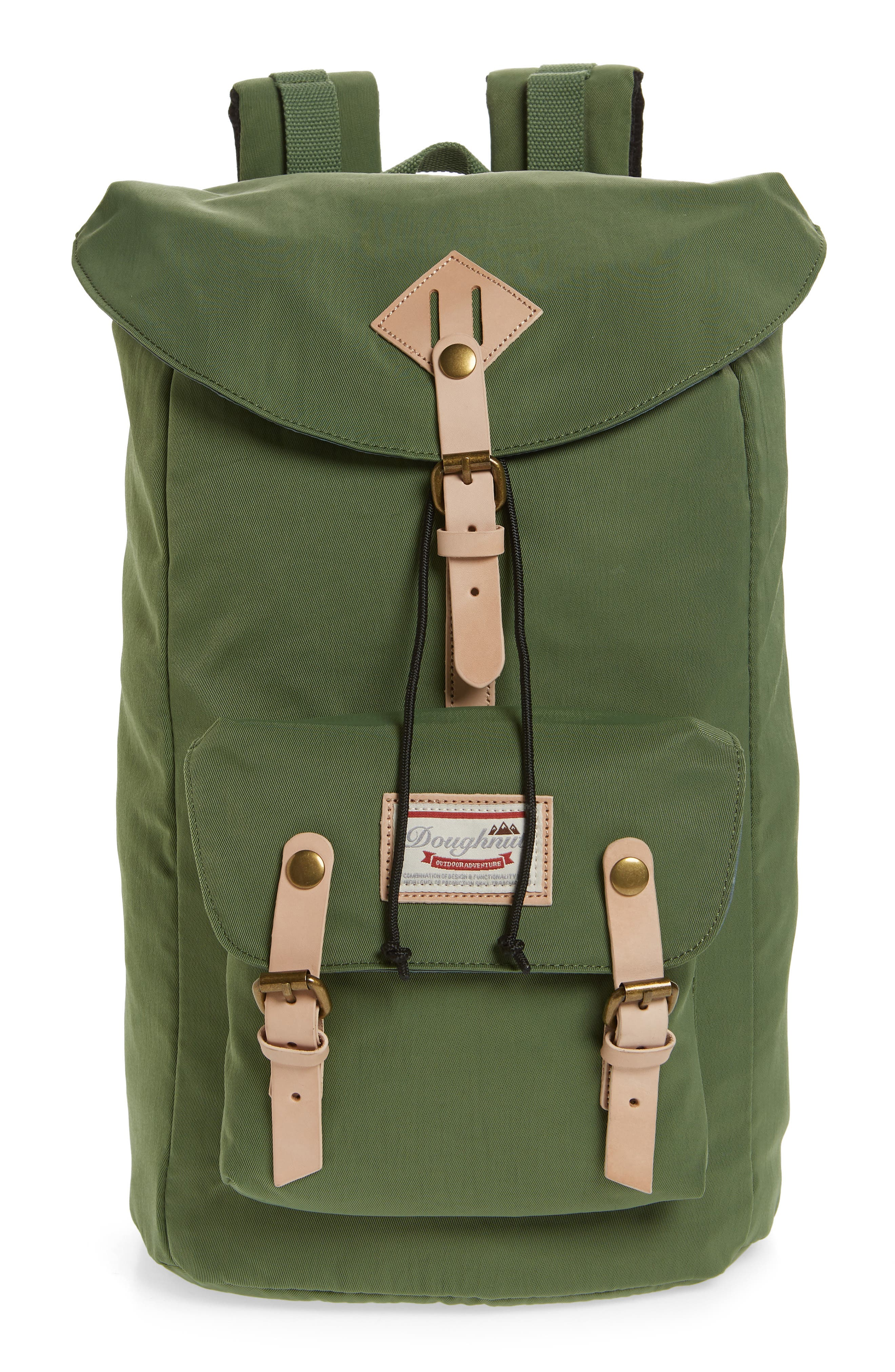DOUGHNUT Heritage Water Repellent Backpack, Main, color, ARMY