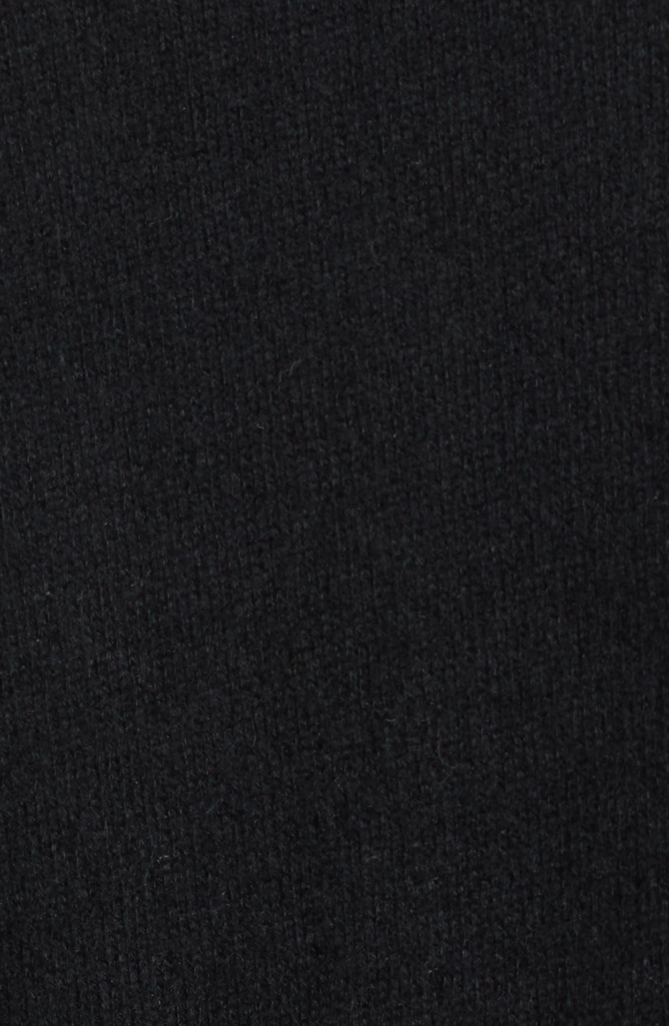 BP., Asymmetrical Button Top, Alternate thumbnail 6, color, BLACK