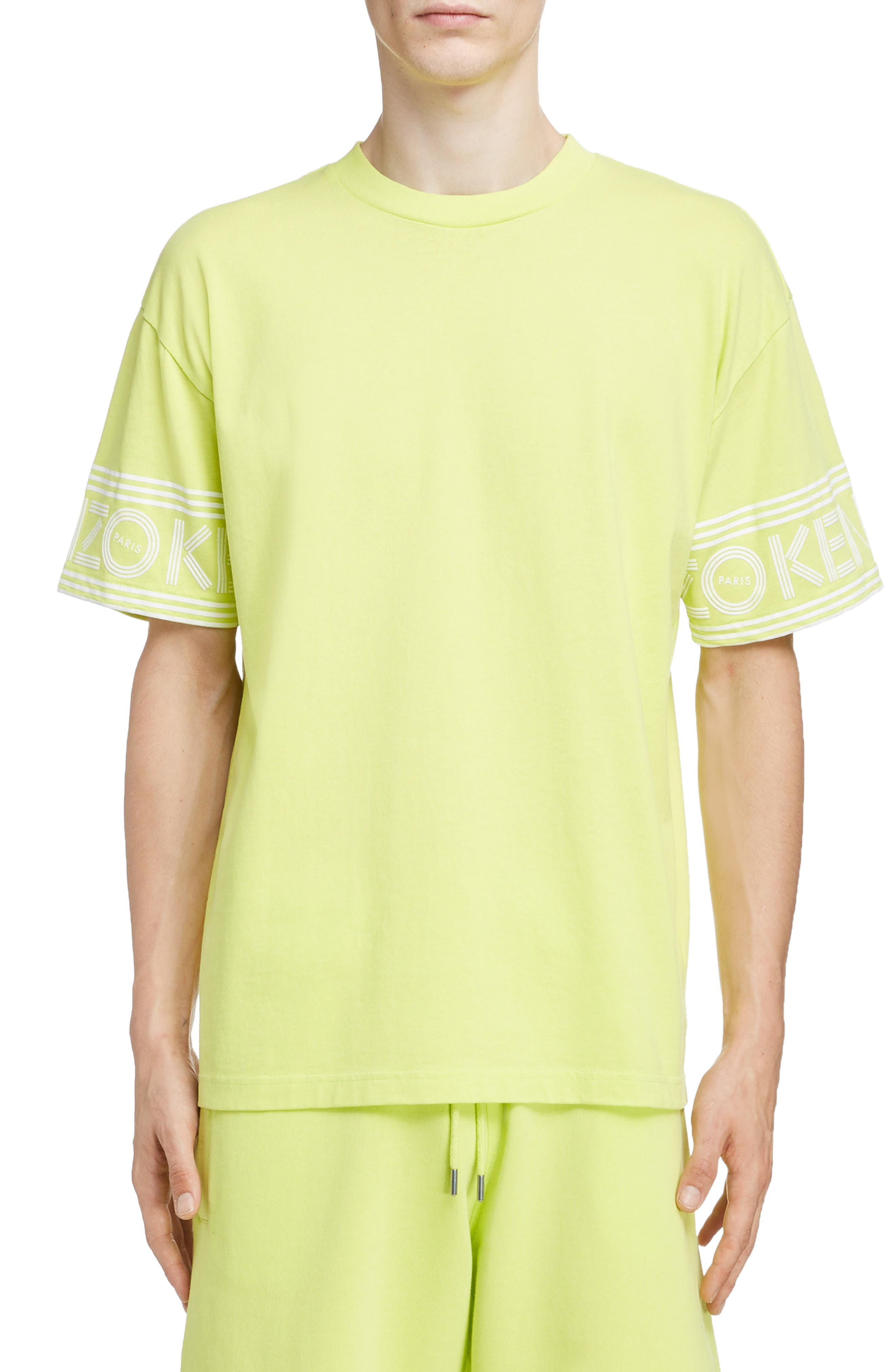 KENZO Sport Logo T-Shirt, Main, color, LEMON